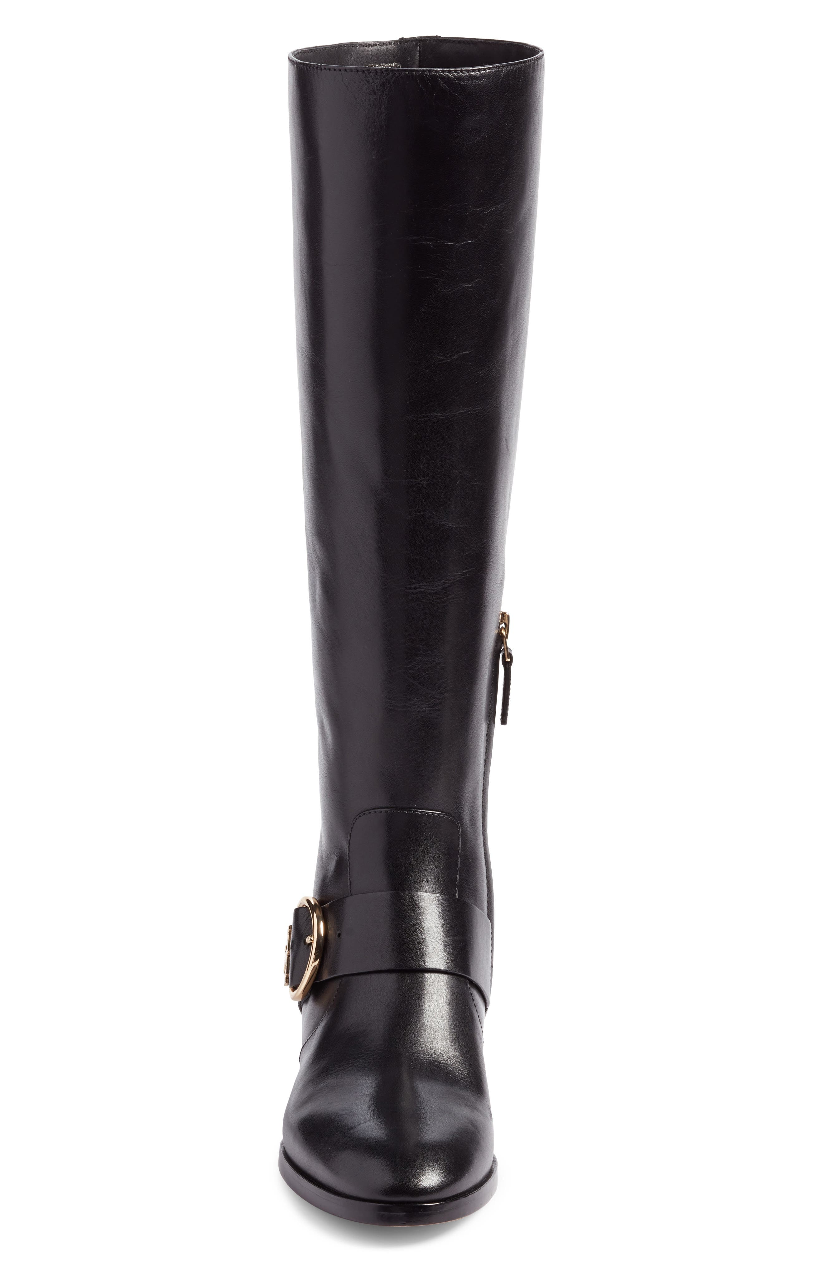 Sofia Buckled Riding Boot,                             Alternate thumbnail 4, color,                             001