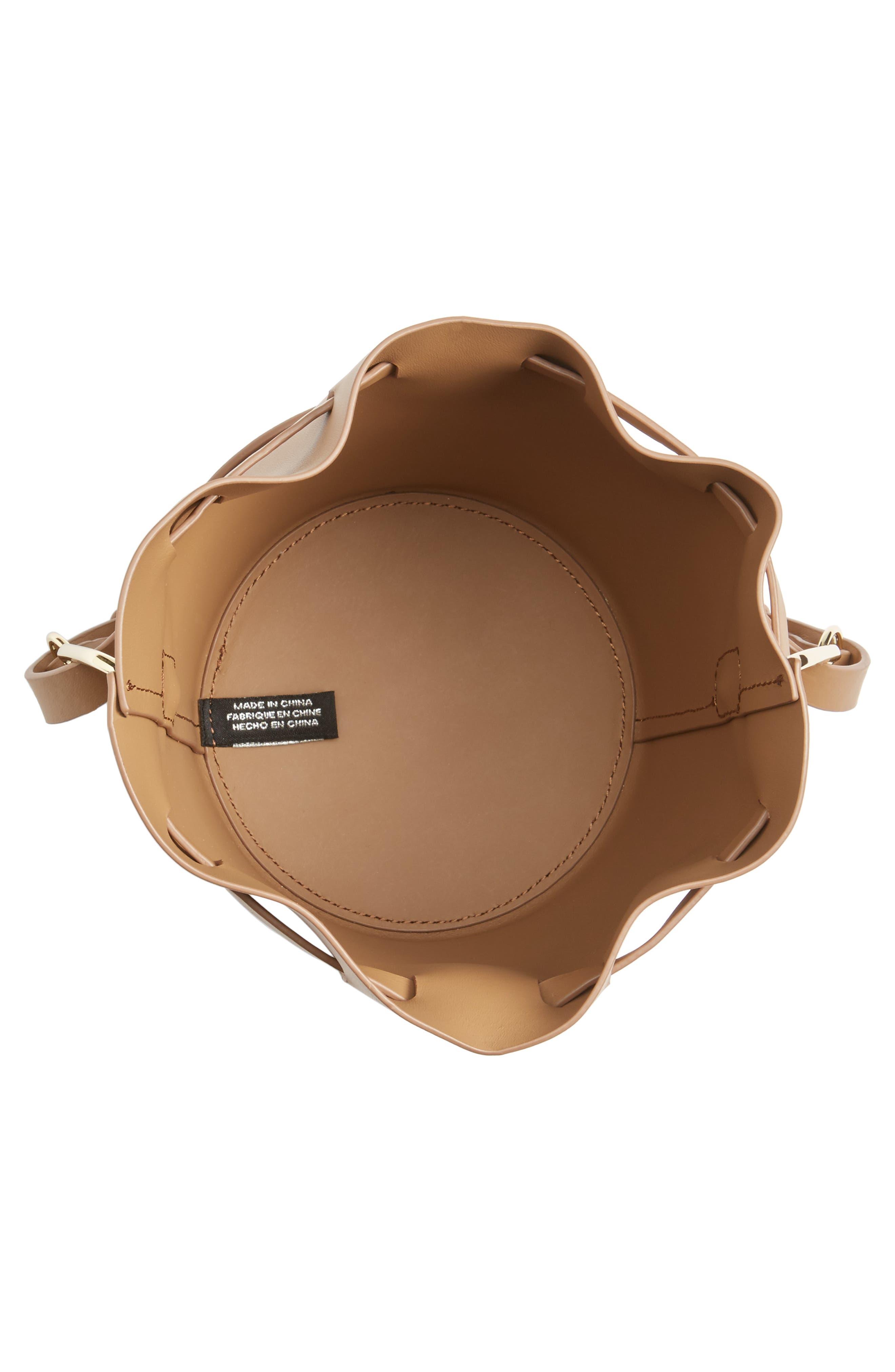 Mini Belay Calfskin Leather Drawstring Bag,                             Alternate thumbnail 4, color,                             250