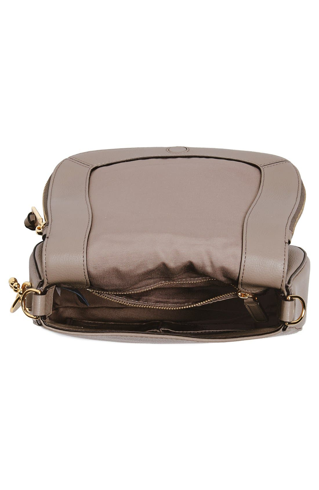 Small Recruit Nomad Pebbled Leather Crossbody Bag,                             Alternate thumbnail 48, color,