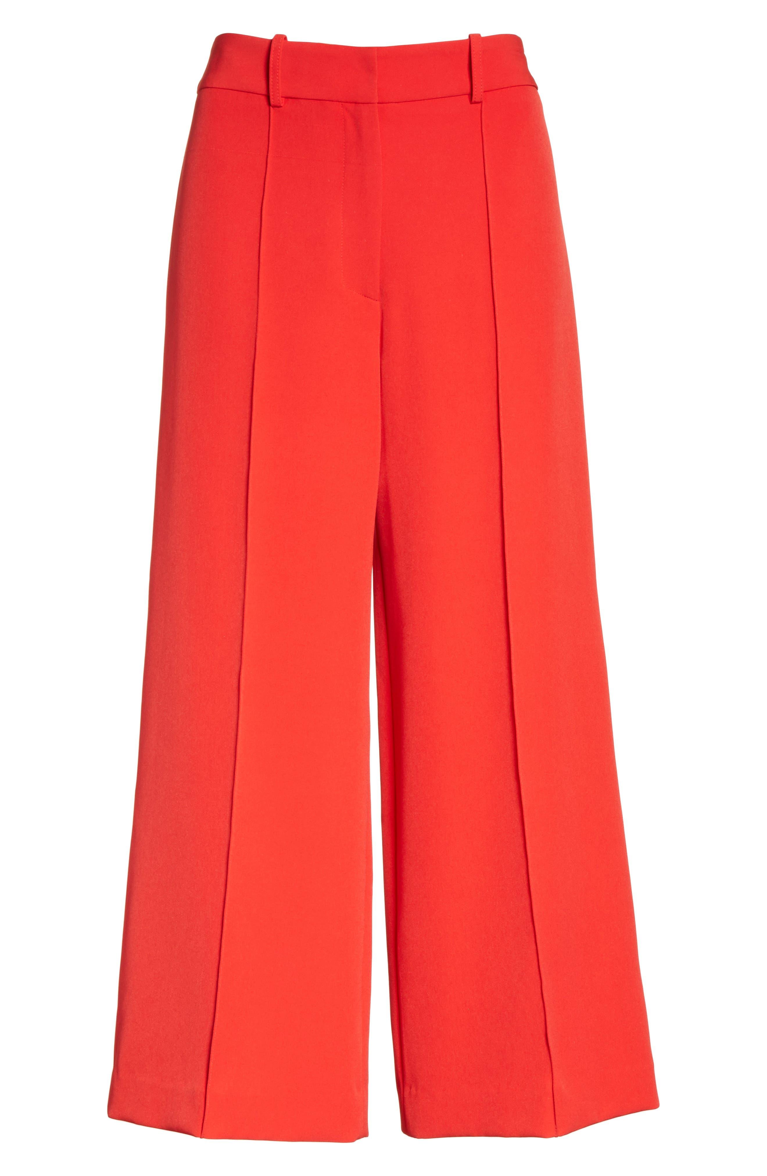 Hayden Italian Cady Crop Pants,                             Alternate thumbnail 6, color,                             649