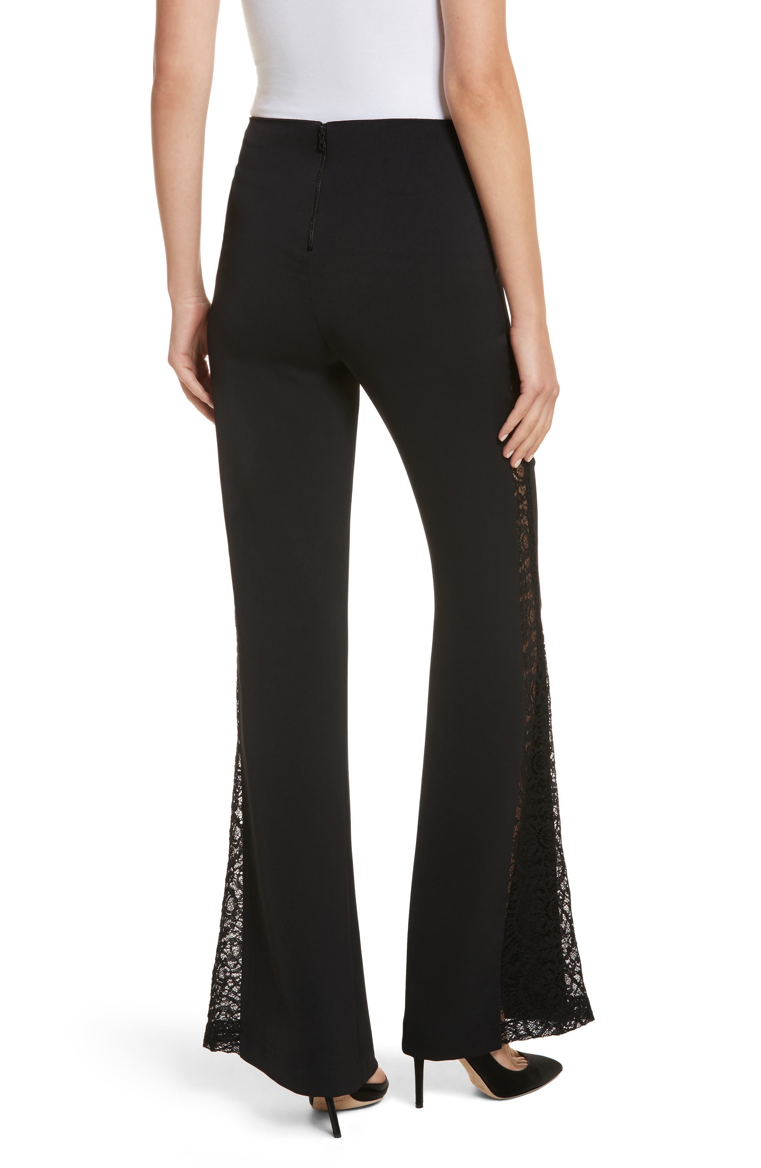 Mandy Side Panel Flared Pants,                             Alternate thumbnail 2, color,                             001