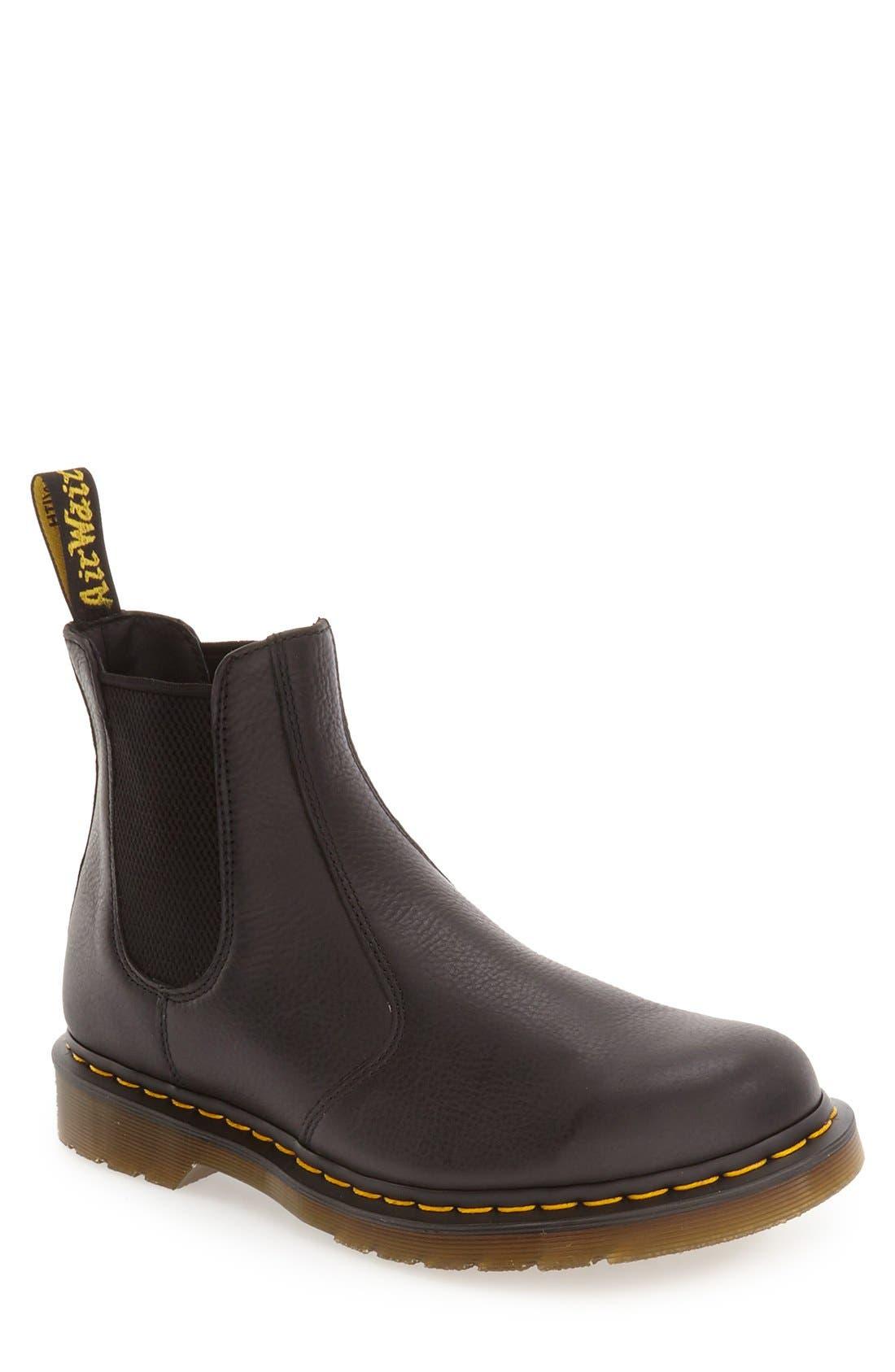 DR. MARTENS '2976' Chelsea Boot, Main, color, BLACK LEATHER