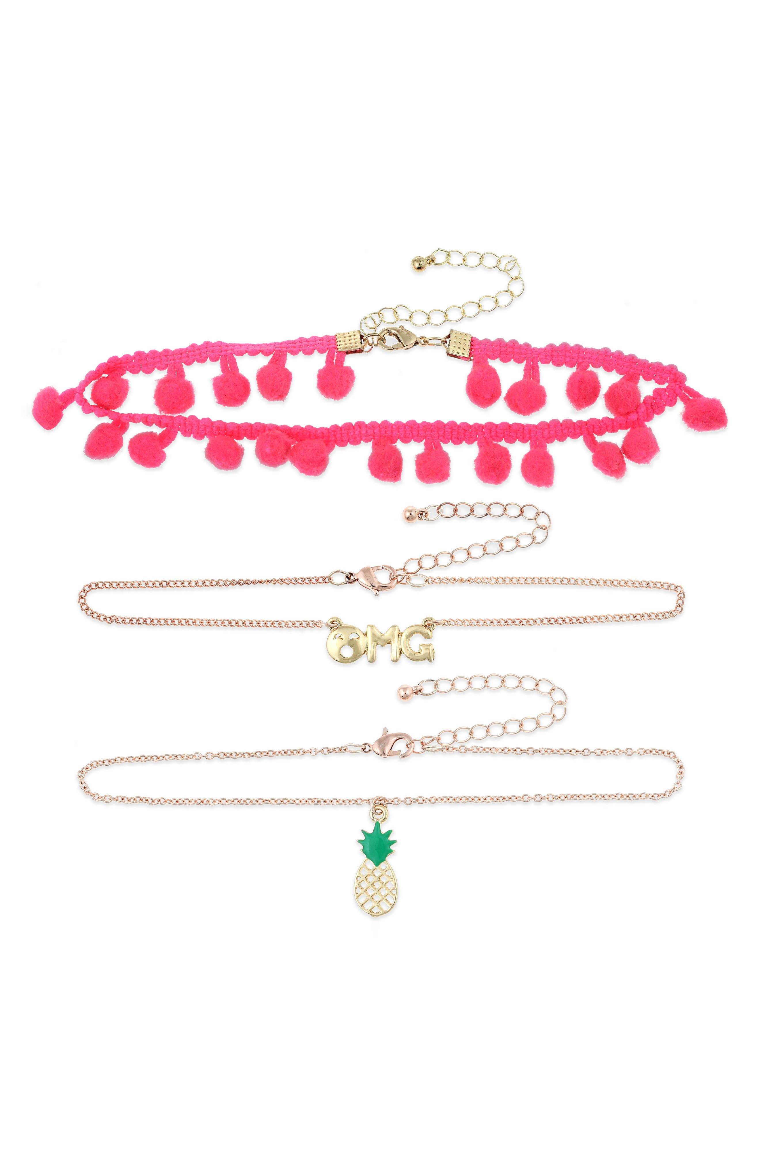 Set of 3 Chokers,                         Main,                         color, 660