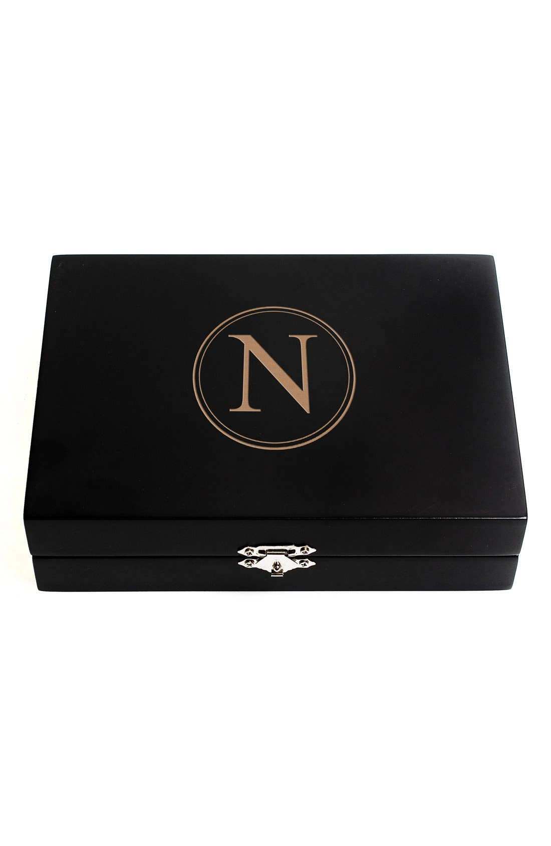 Monogram Wooden Jewelry Box,                             Main thumbnail 16, color,