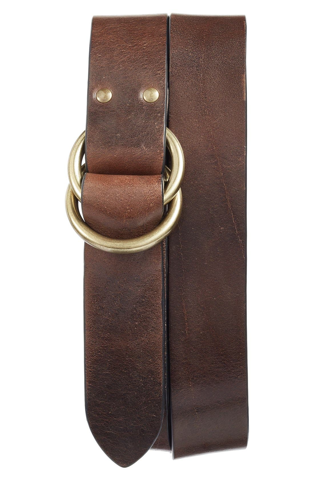 Harness Leather Belt,                             Main thumbnail 3, color,