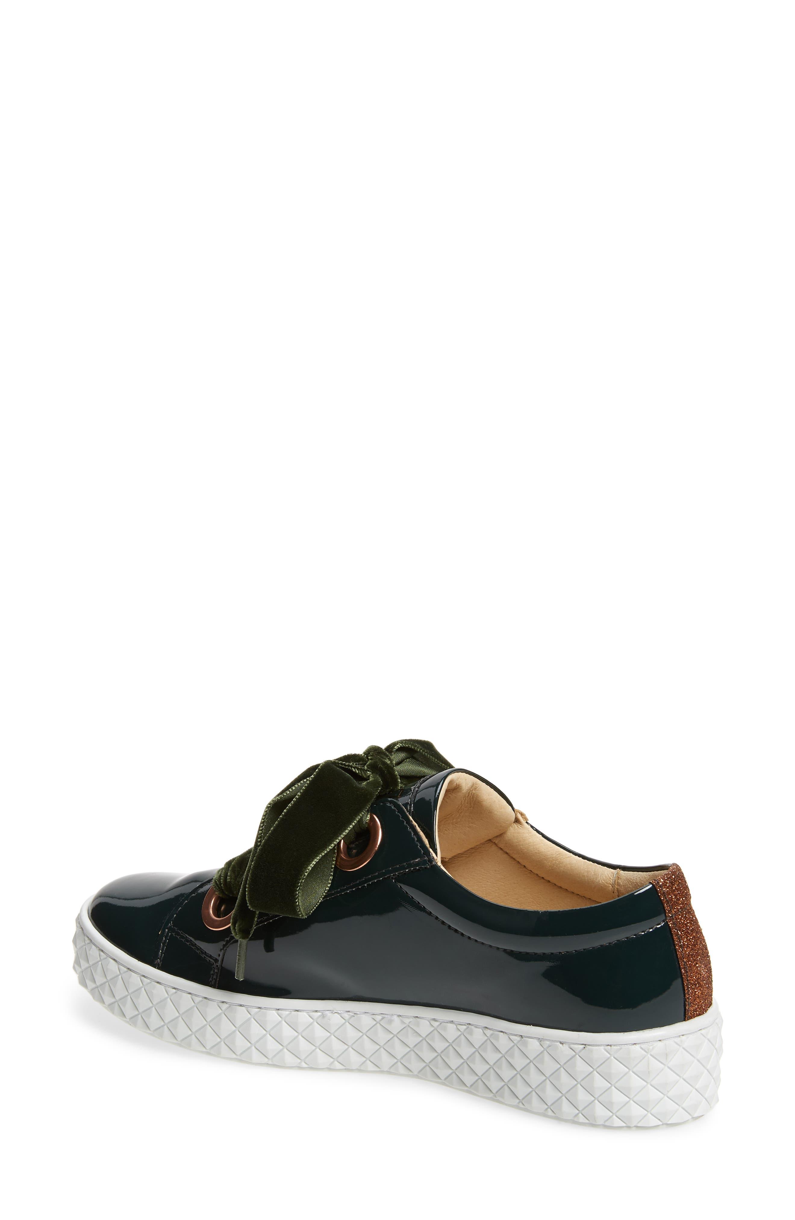 Acton III Sneaker,                             Alternate thumbnail 2, color,                             BOTTLE GREEN LEATHER