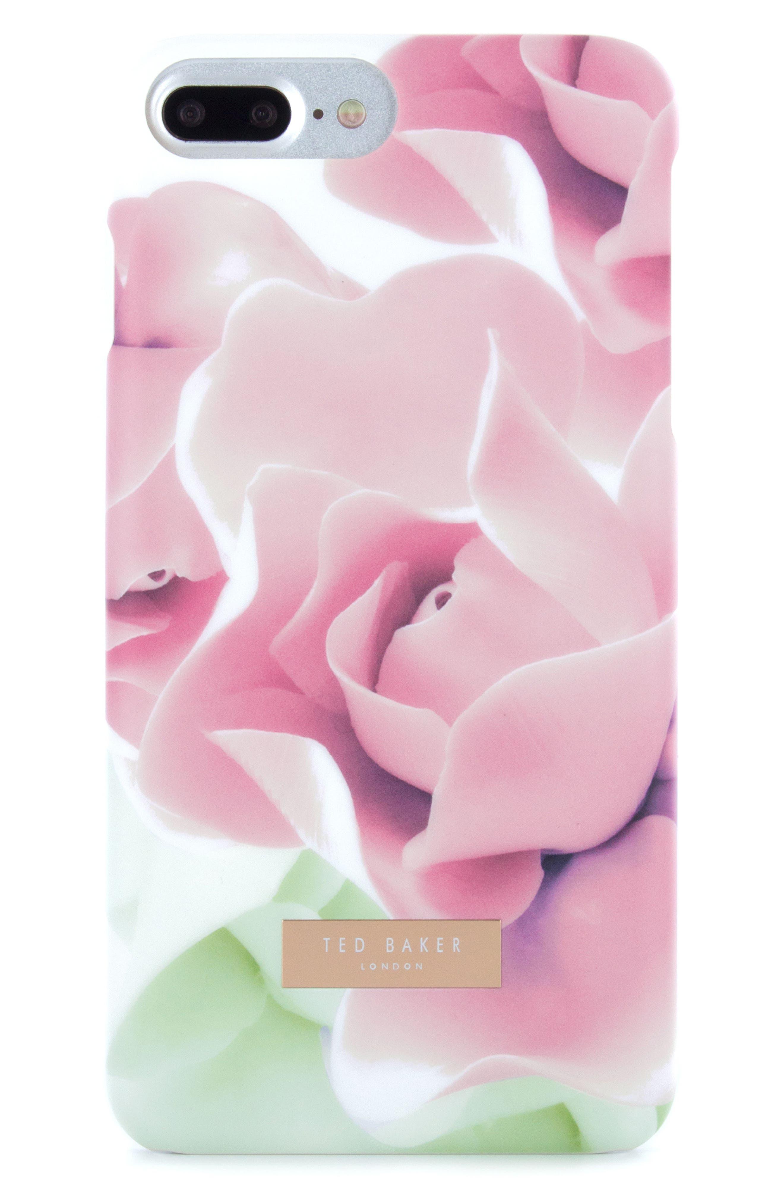 Anotei Rose iPhone 6/6s/7/8 & 6/6s/7/8 Plus Case,                             Alternate thumbnail 3, color,