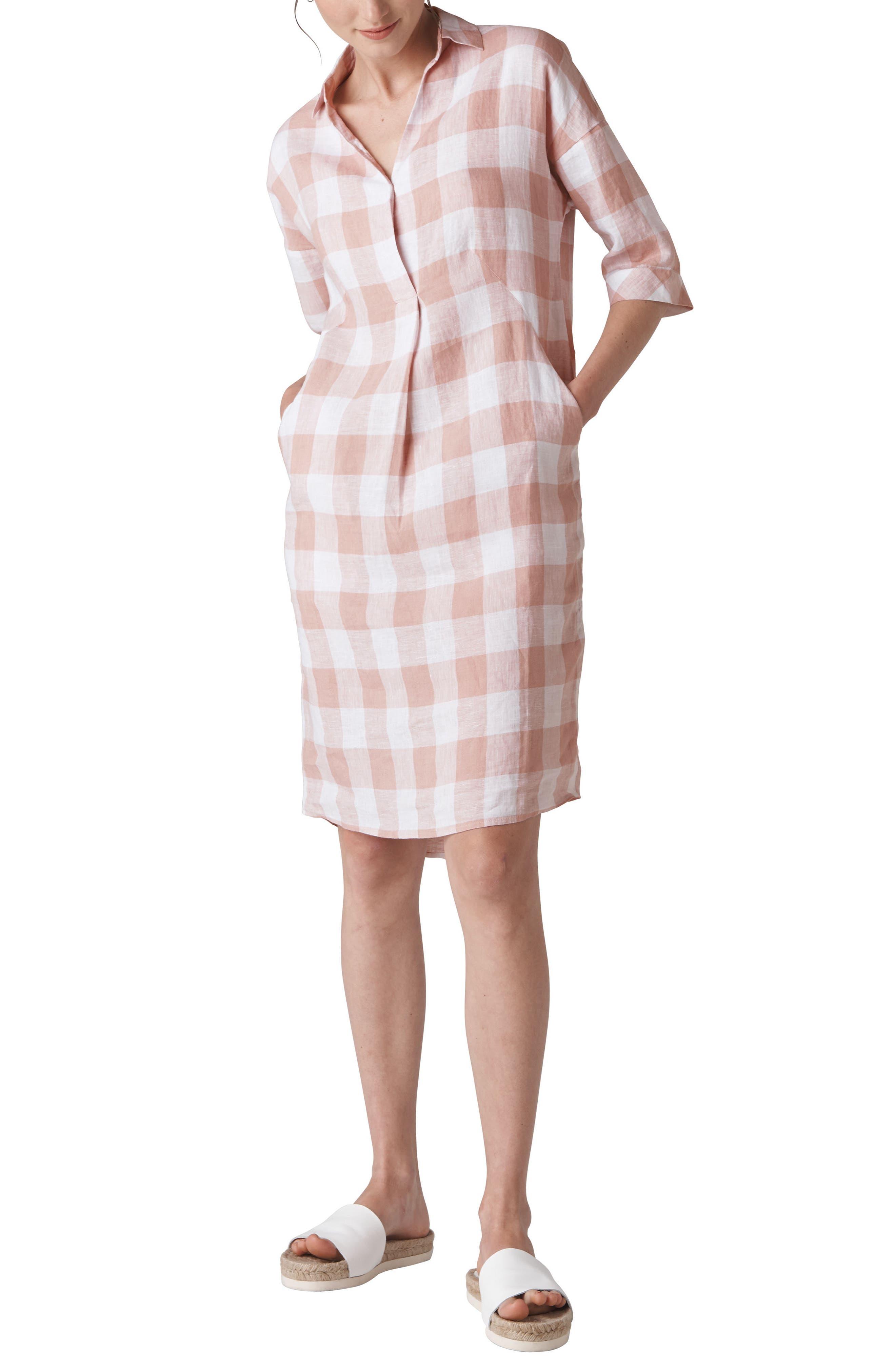 Lola Gingham Dress,                             Main thumbnail 1, color,                             MULTI COLOR