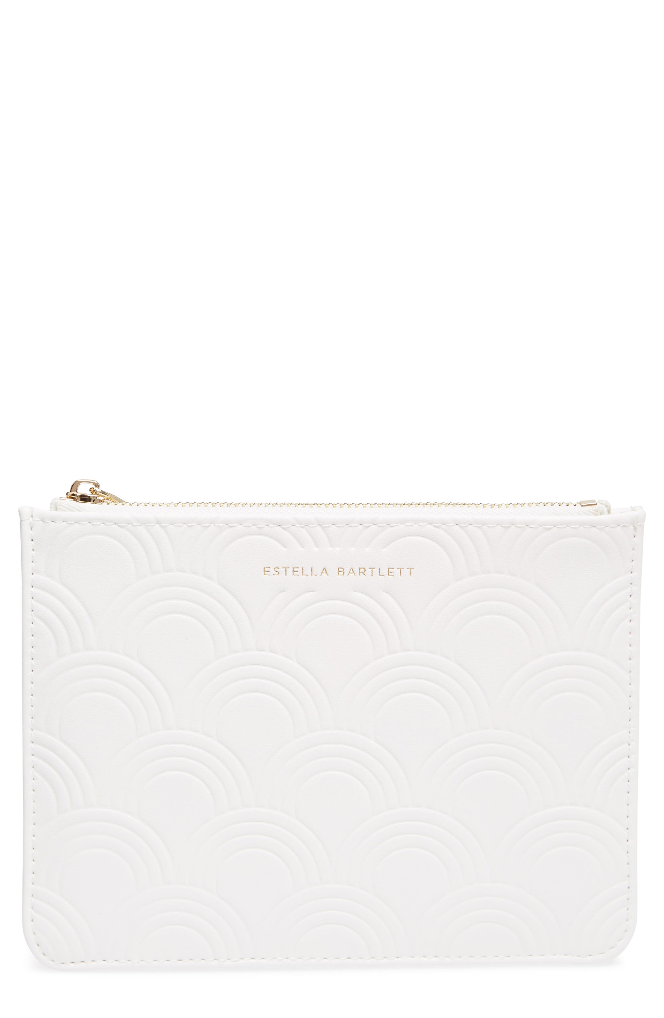 Small Embossed Faux Leather Pouch,                             Main thumbnail 1, color,                             900