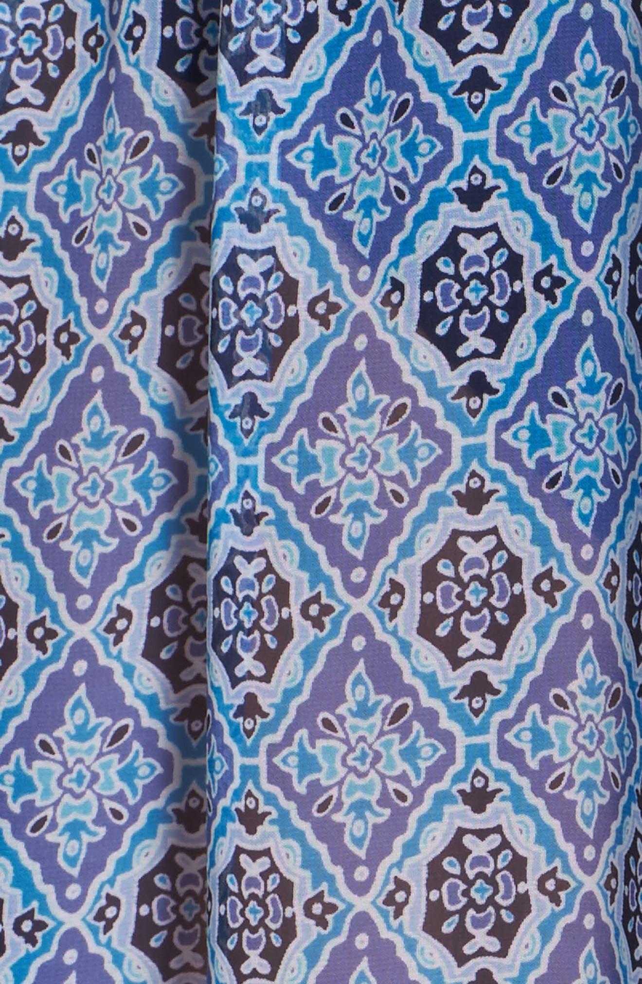 Tika Tiles Cover-Up Caftan,                             Alternate thumbnail 5, color,                             400