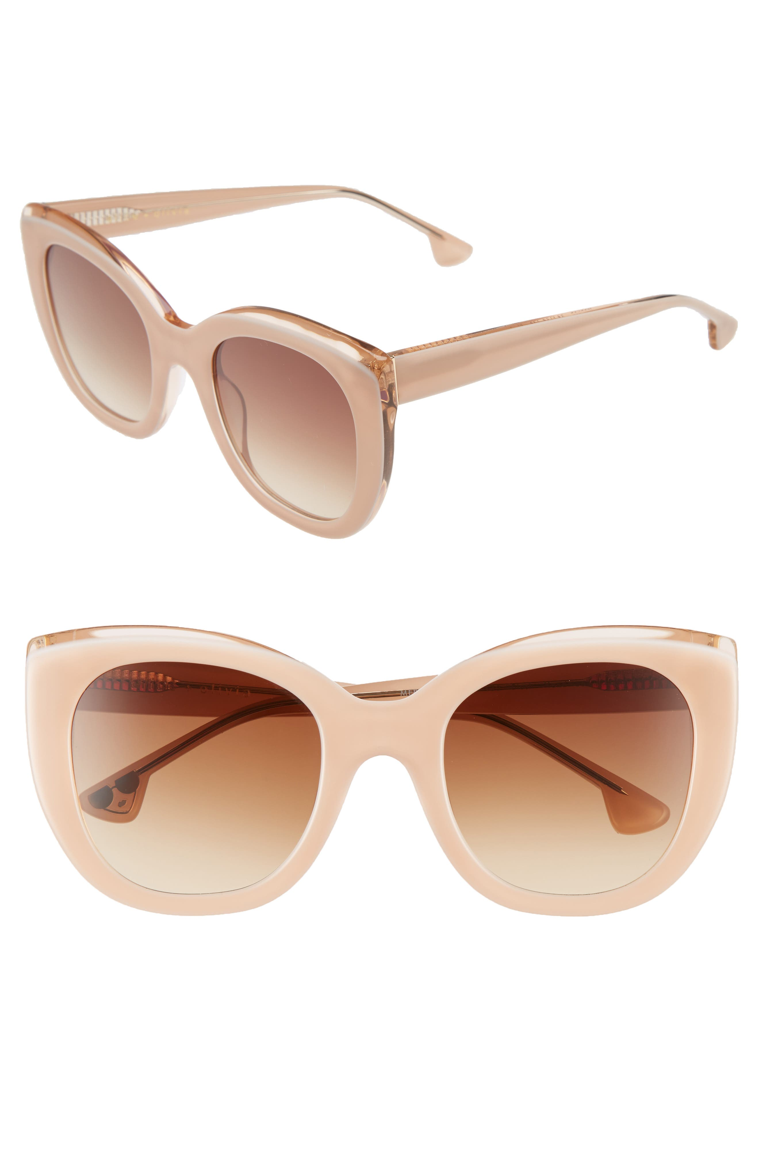 Mercer 52mm Cat Eye Sunglasses,                             Main thumbnail 3, color,