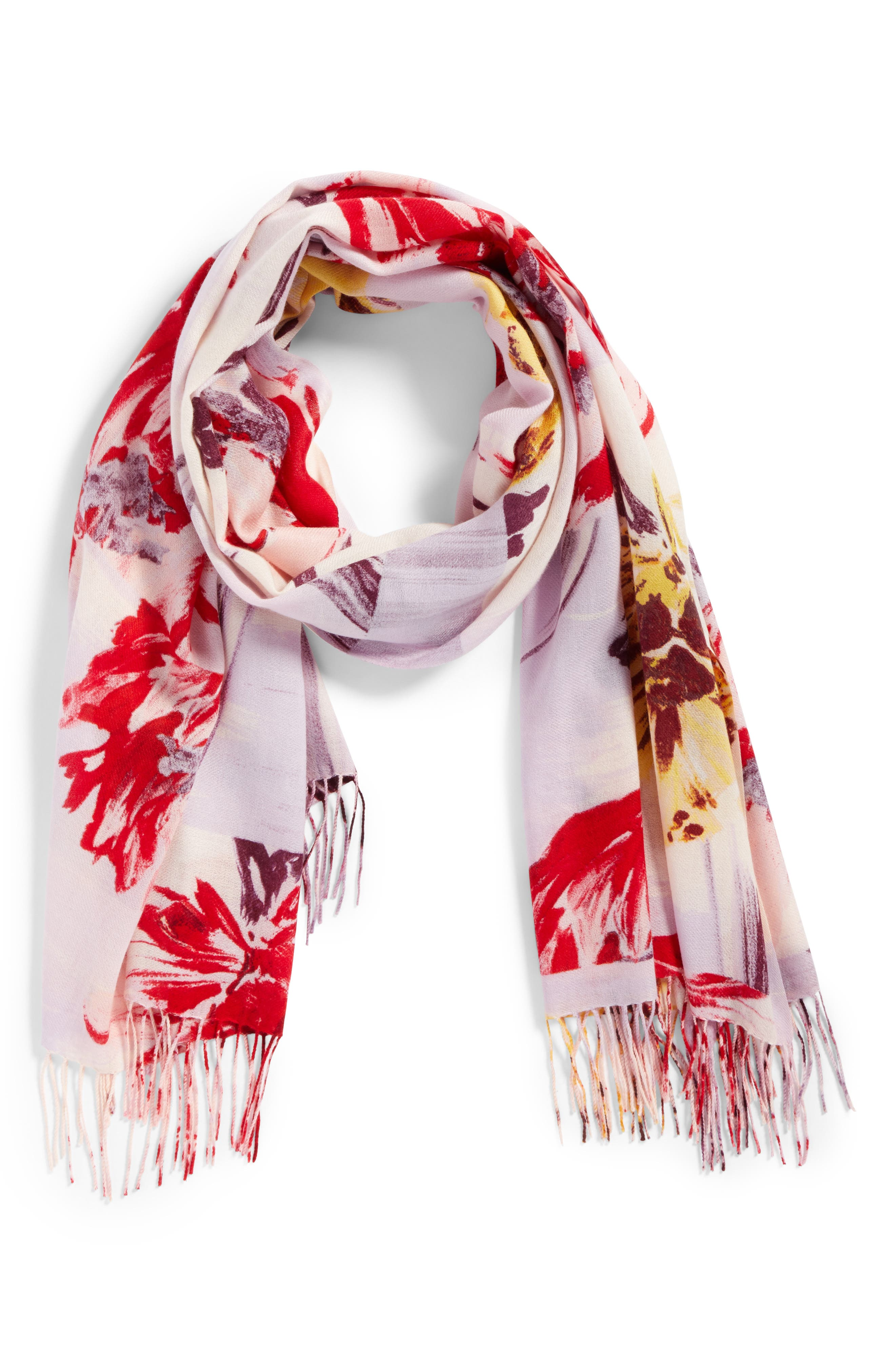 Tissue Print Wool & Cashmere Wrap Scarf,                             Alternate thumbnail 55, color,