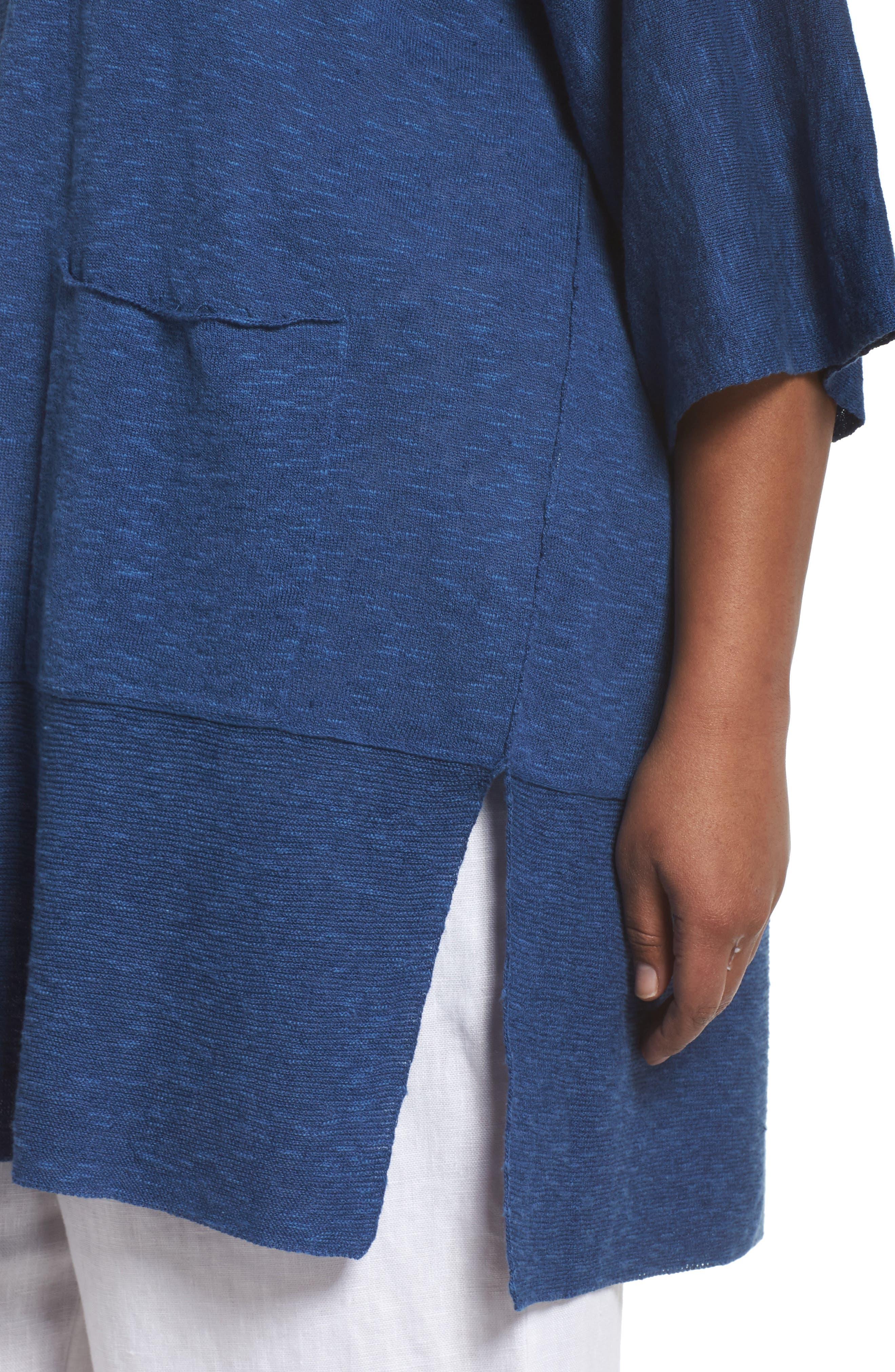 Organic Linen & Cotton Kimono Cardigan,                             Alternate thumbnail 9, color,