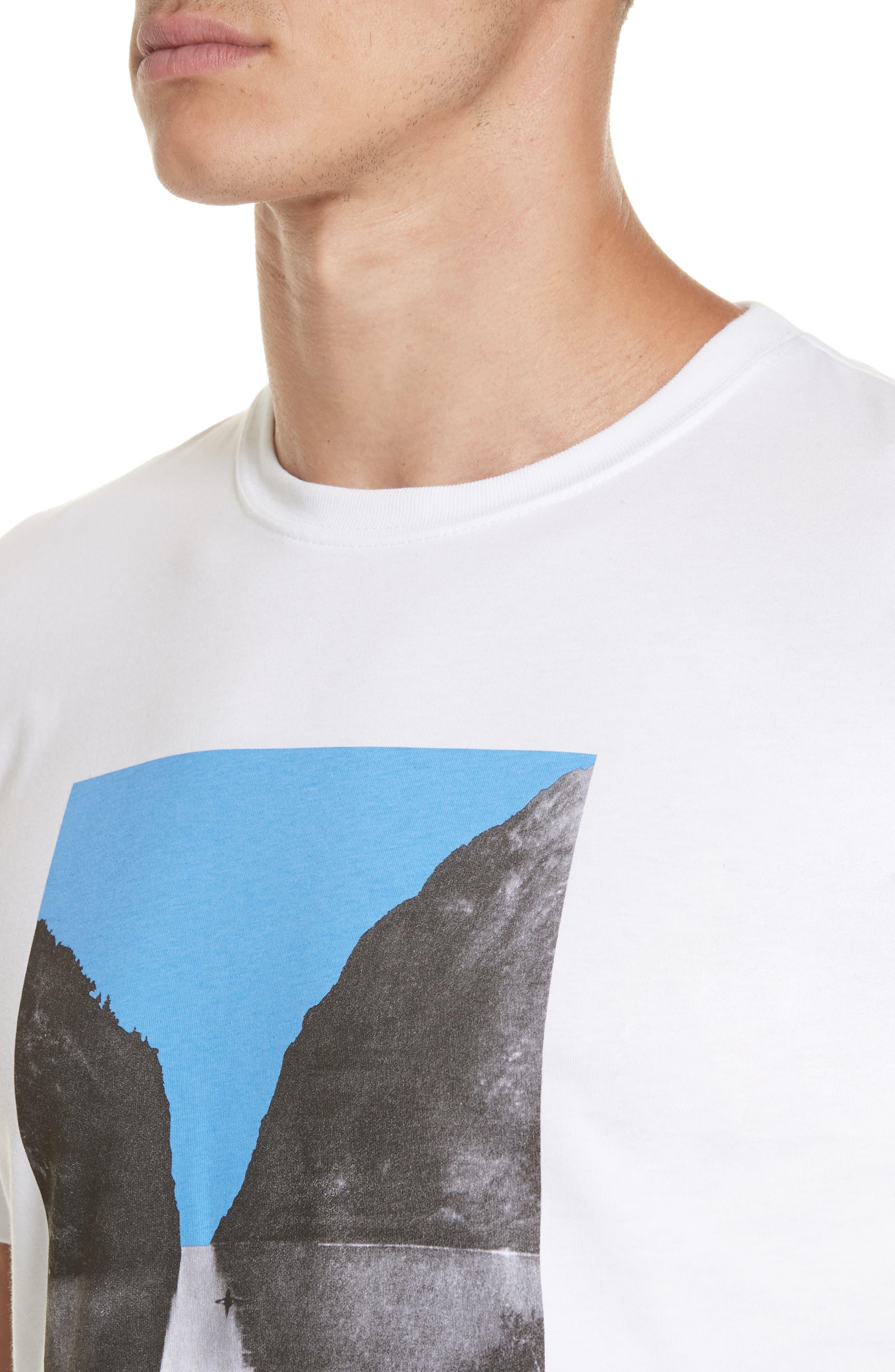 Niels Nærøyfjord Graphic T-Shirt,                             Alternate thumbnail 4, color,                             WHITE