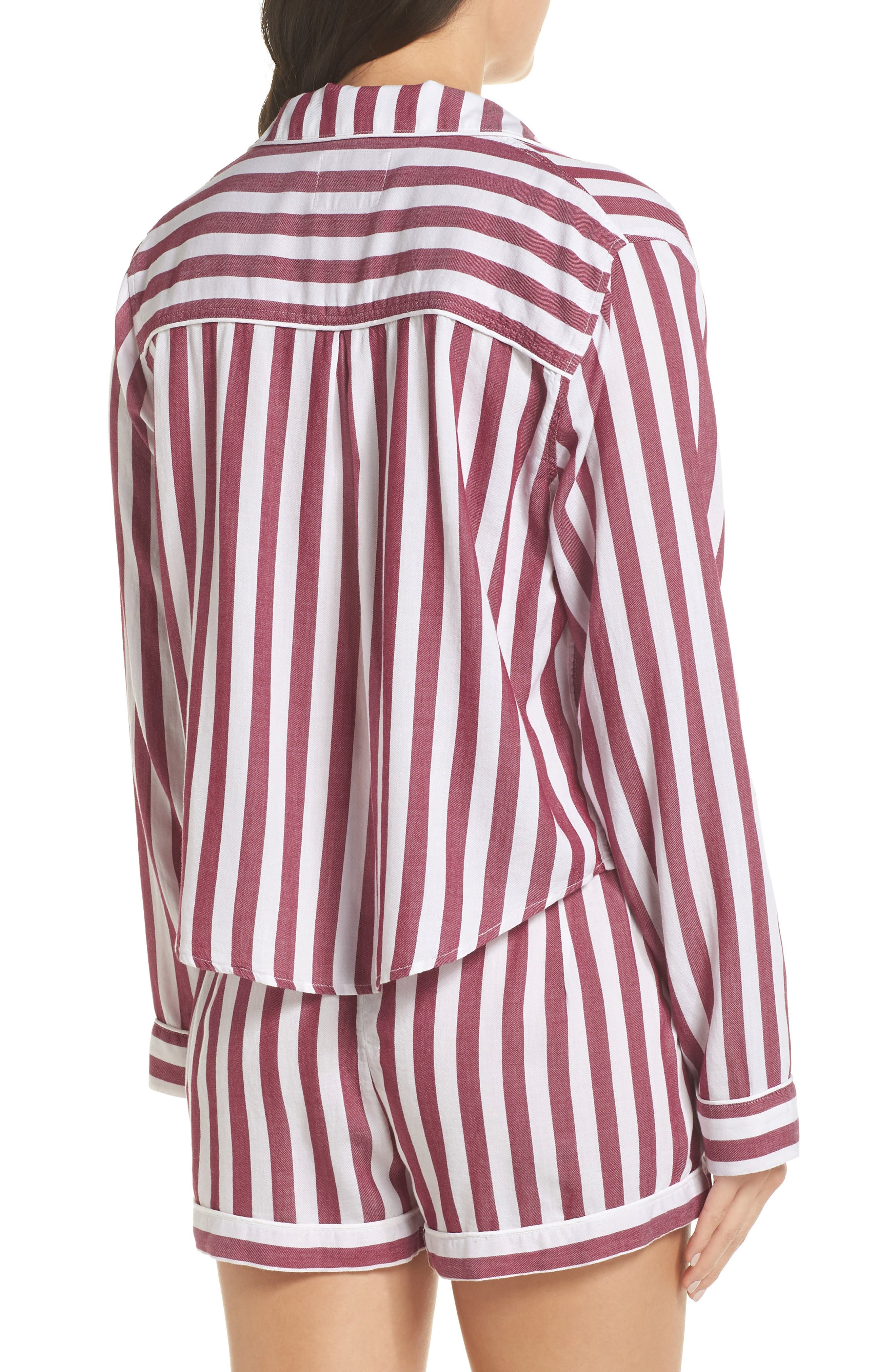 Stripe Short Pajamas,                             Alternate thumbnail 2, color,                             TOLEDO STRIPE