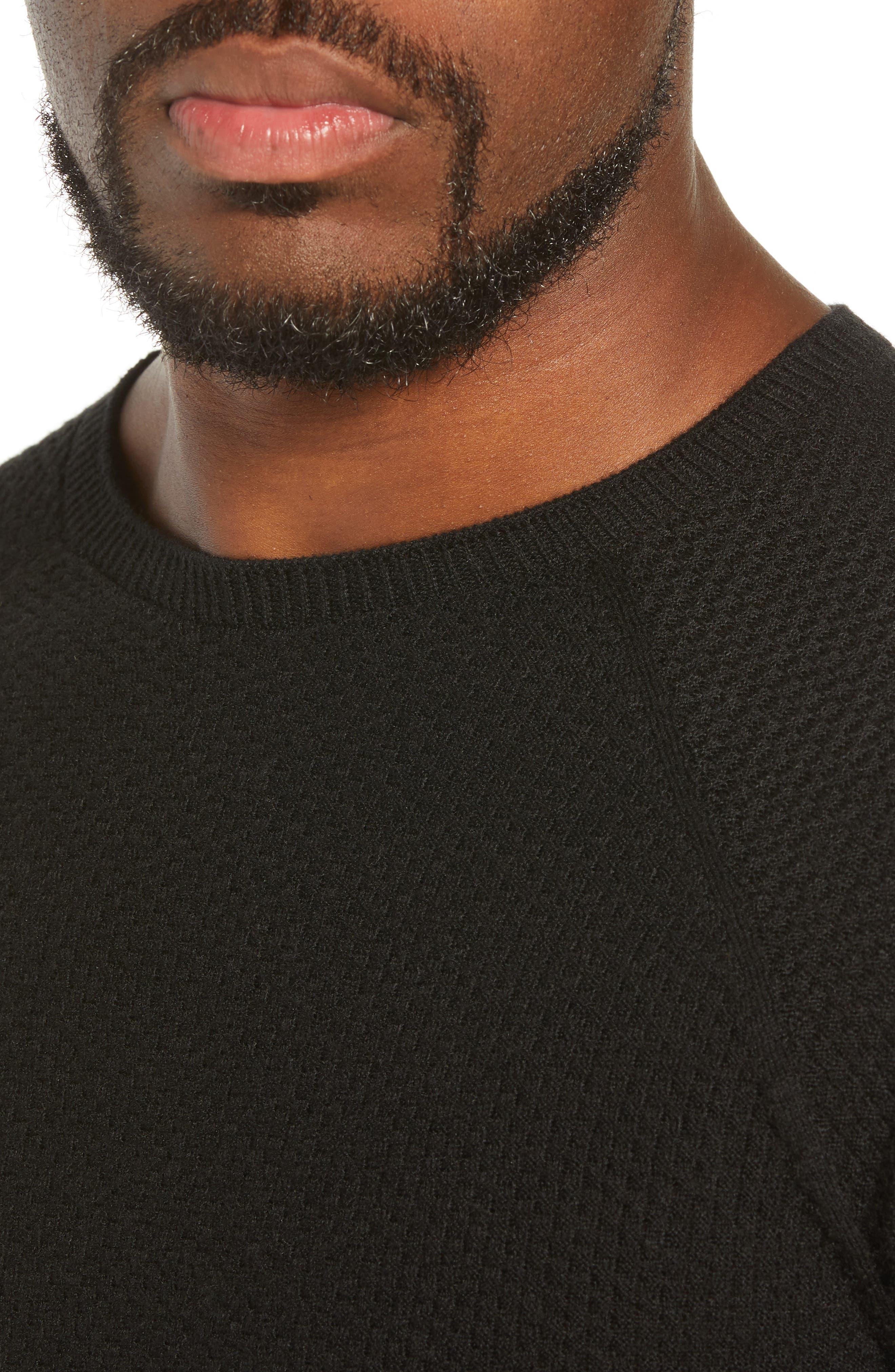 Capilene<sup>®</sup> Lightweight Air Crew Sweater,                             Alternate thumbnail 4, color,                             BLACK