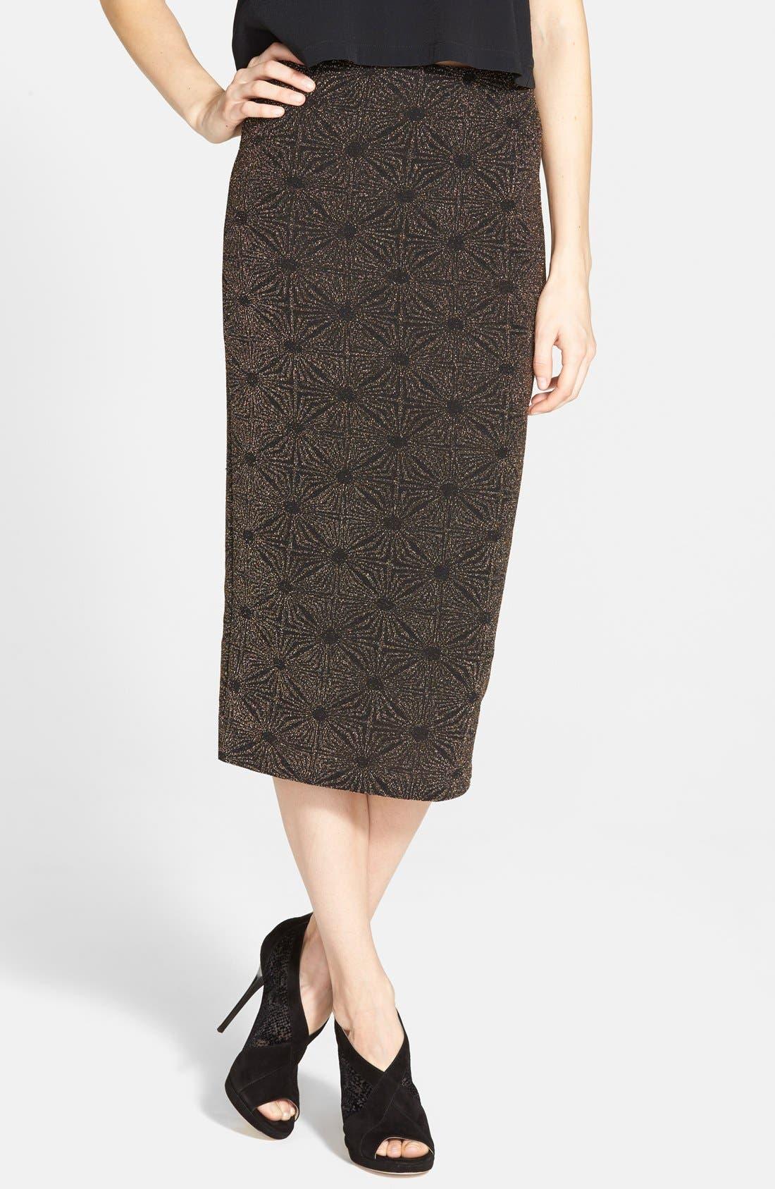Glitter Midi Skirt, Main, color, 710