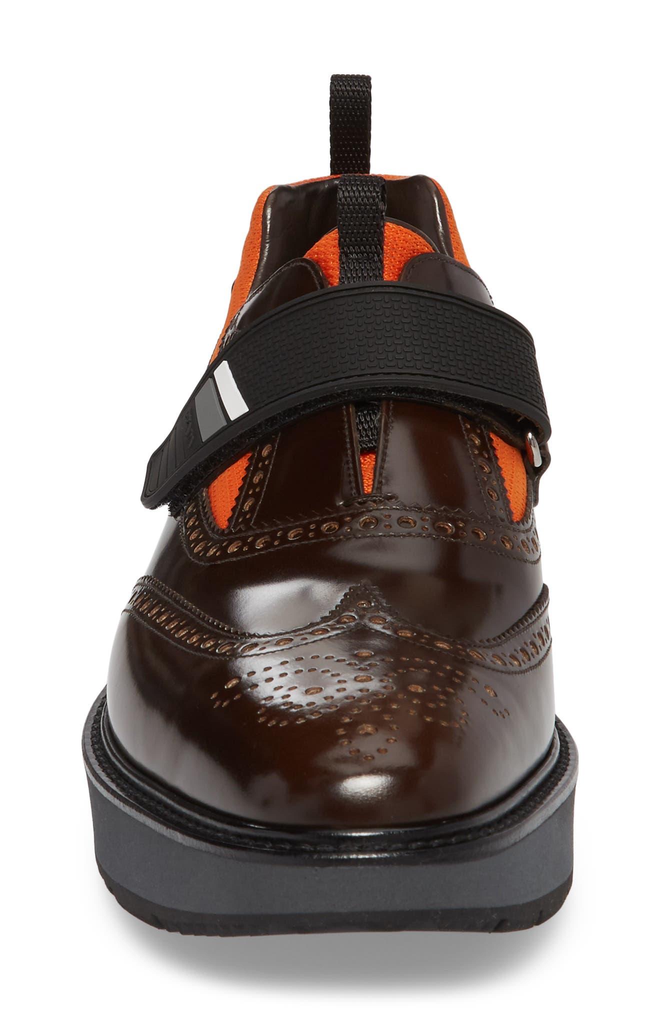 Strap Wingtip Sneaker,                             Alternate thumbnail 4, color,                             200