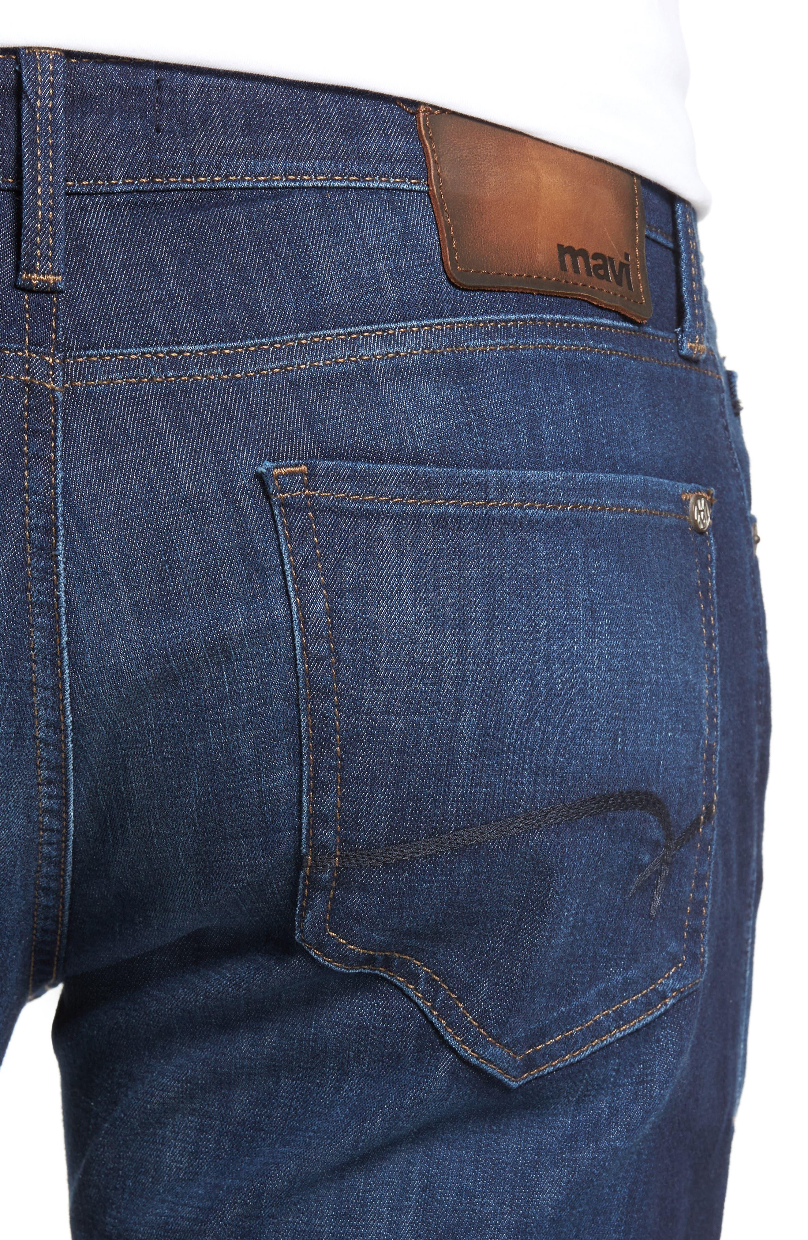 Marcus Slim Straight Leg Jeans,                             Alternate thumbnail 4, color,                             INDIGO PORTLAND
