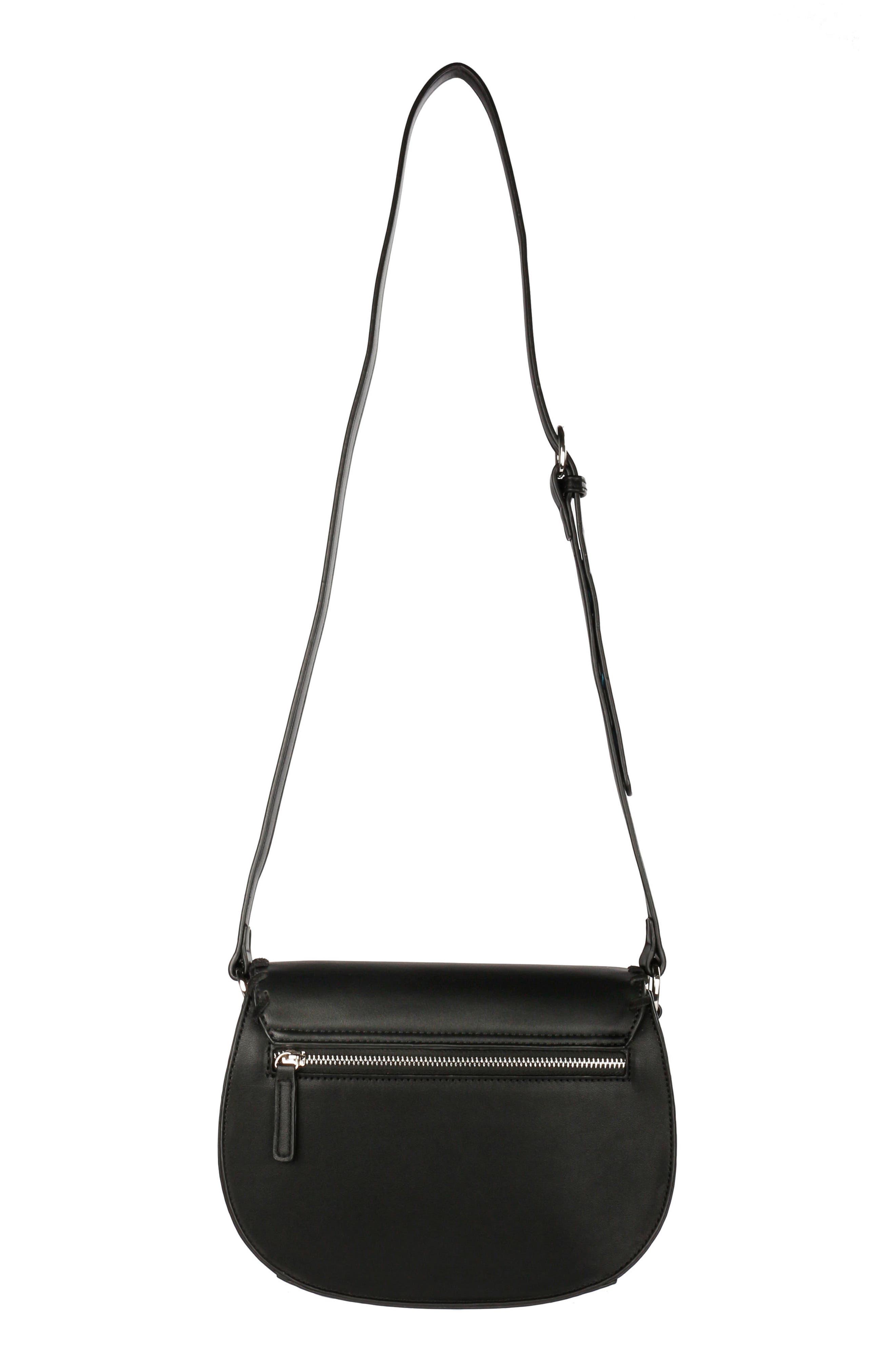 Céline Dion Espressivo Faux Leather Saddle Bag,                             Alternate thumbnail 2, color,                             001