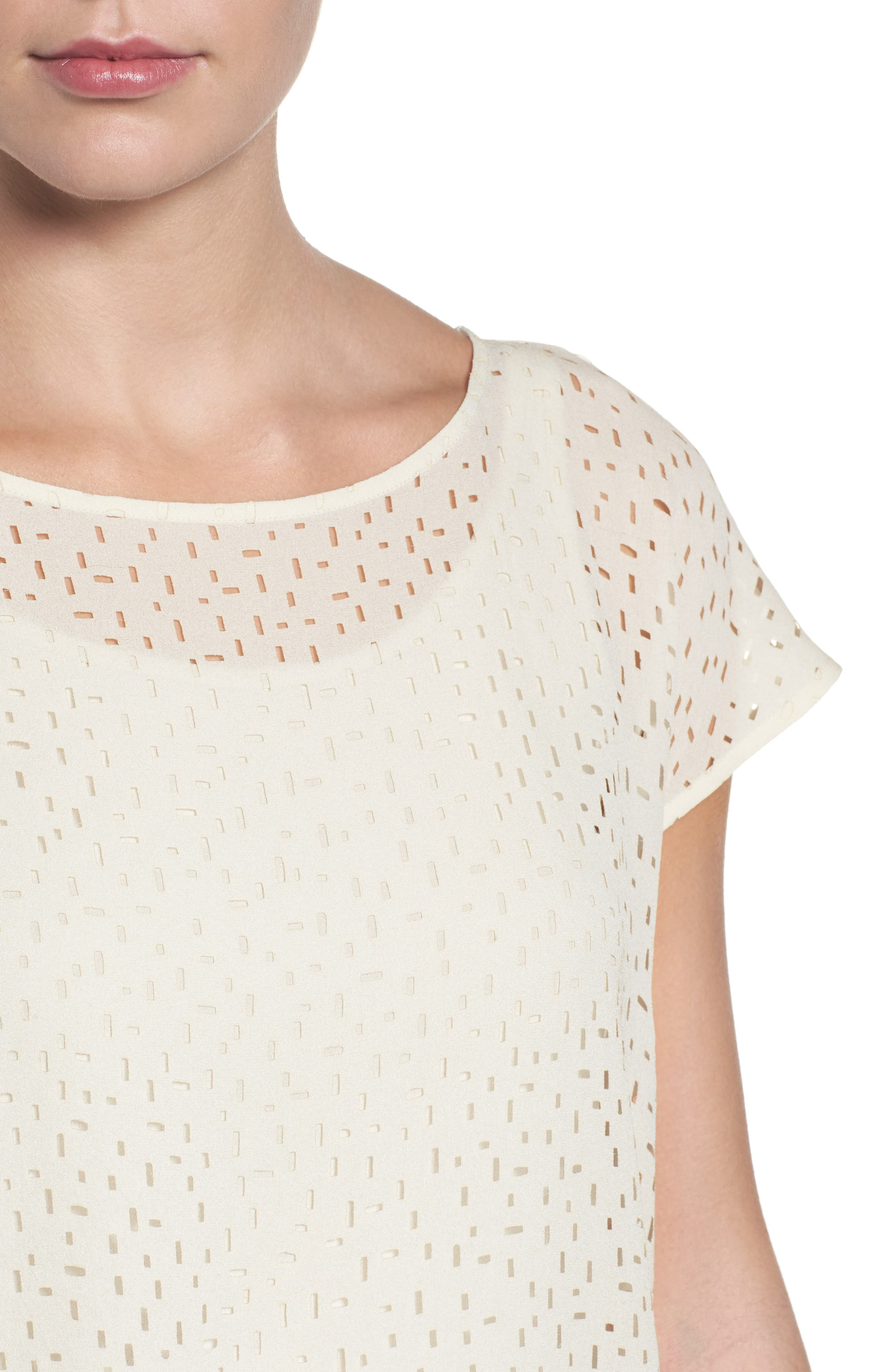 Cutwork Silk Top,                             Alternate thumbnail 8, color,