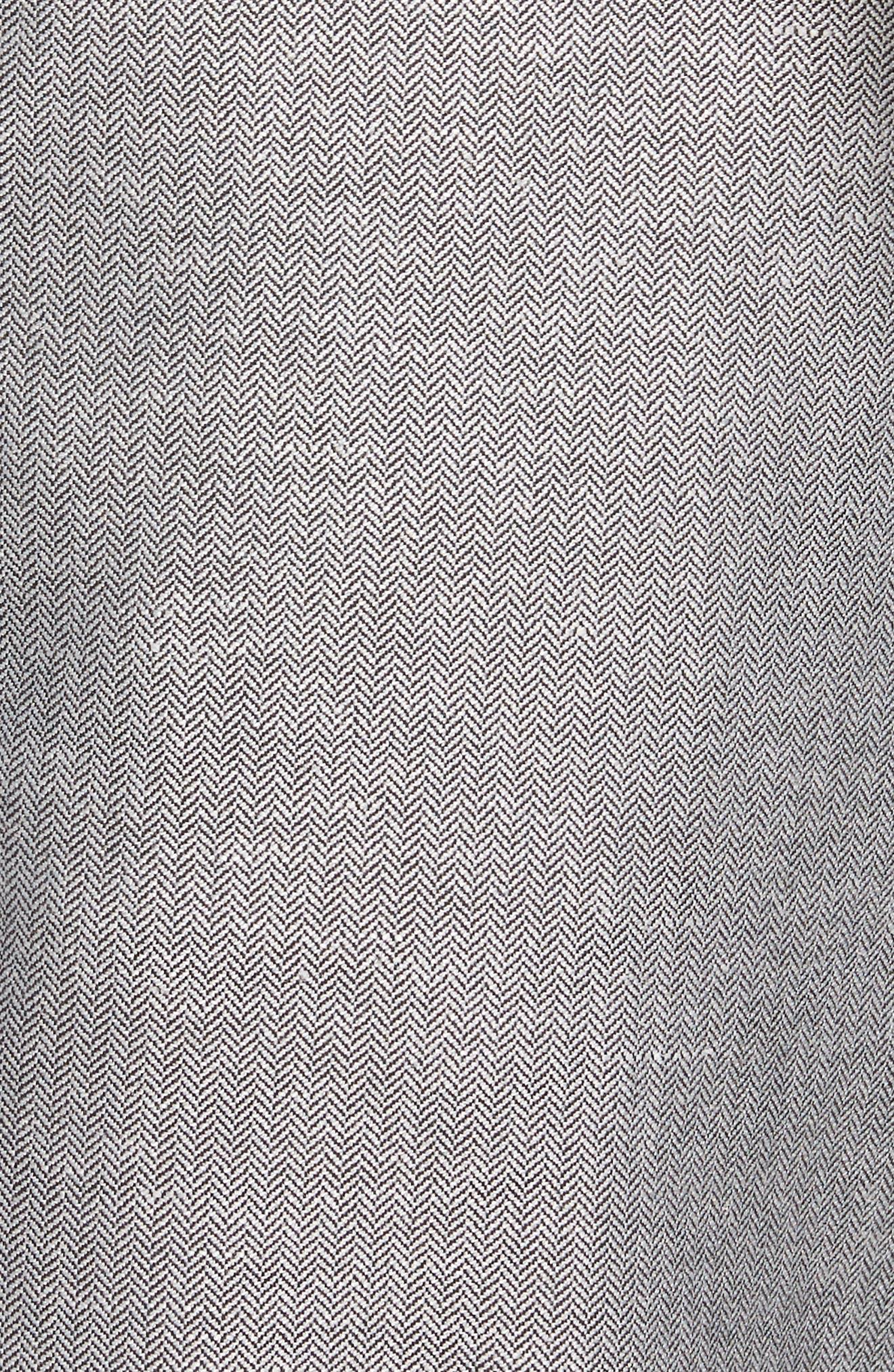 TED BAKER LONDON,                             Cazzman Flat Front Stretch Pants,                             Alternate thumbnail 5, color,                             010