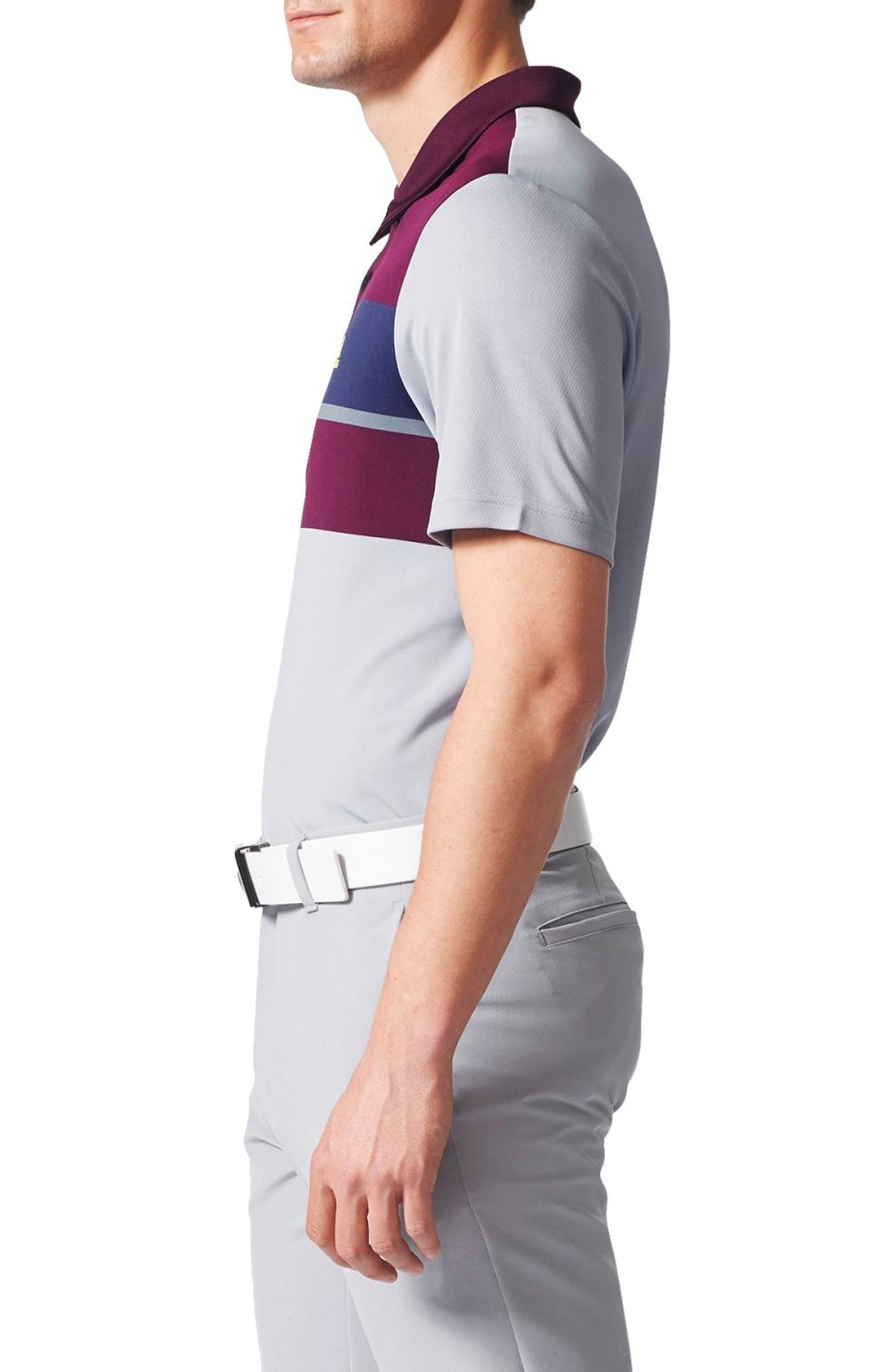 Climacool<sup>®</sup> Colorblocked Polo,                             Alternate thumbnail 3, color,