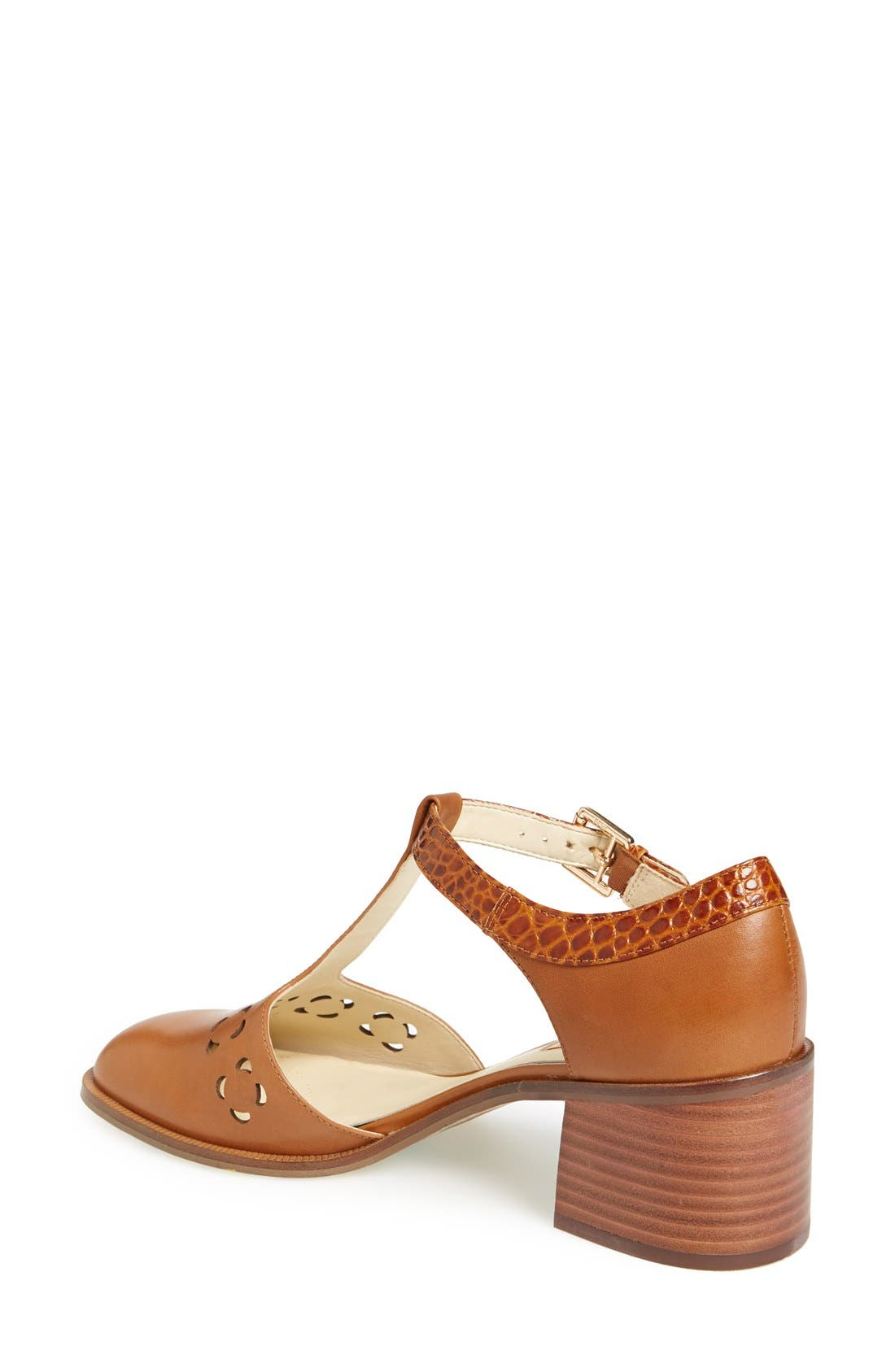 Clarks<sup>®</sup> x Orla Kiely 'Bibi' Leather T-Strap Sandal,                             Alternate thumbnail 4, color,                             200