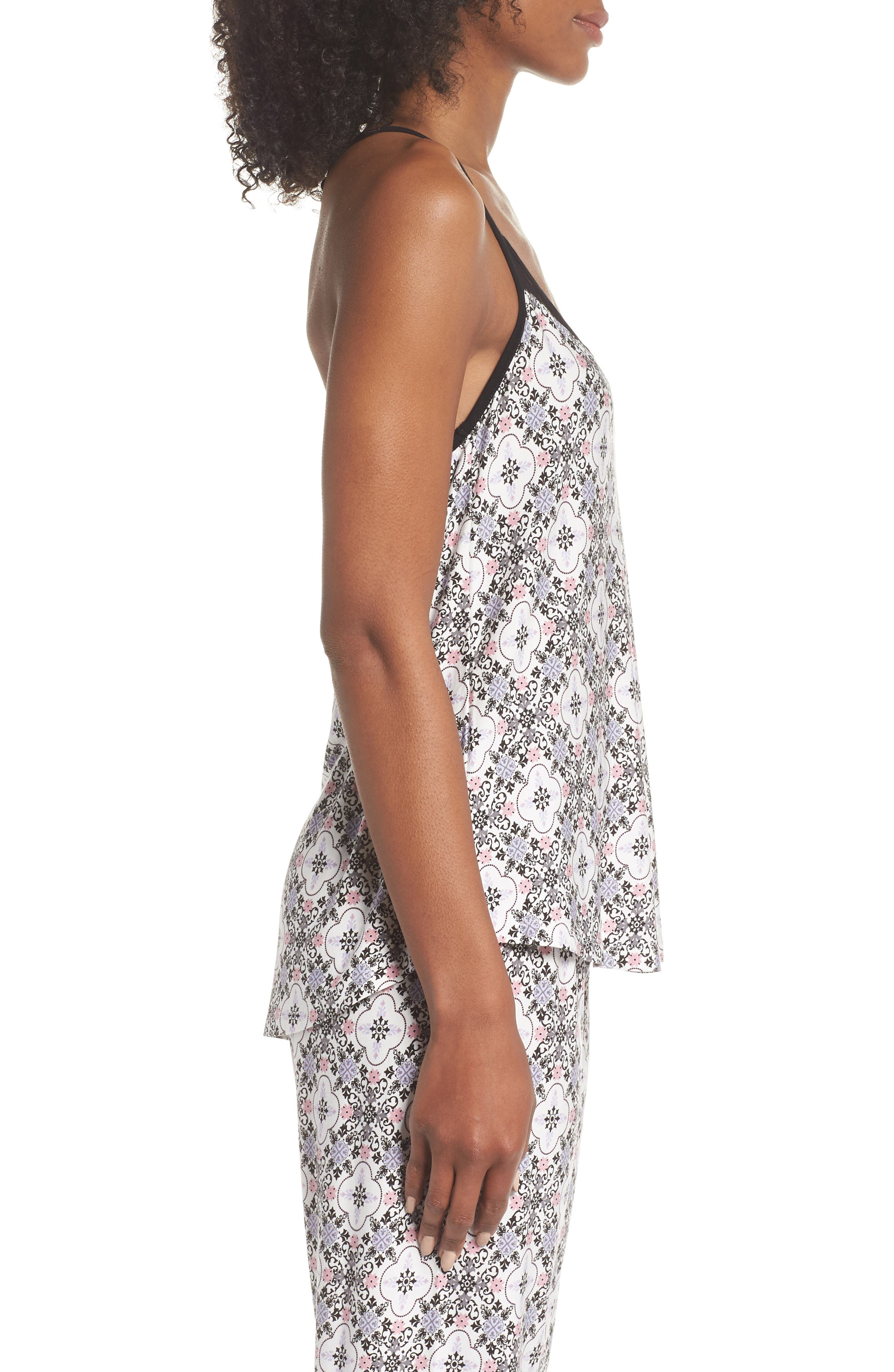 Print Stretch Modal Camisole,                             Alternate thumbnail 3, color,                             901