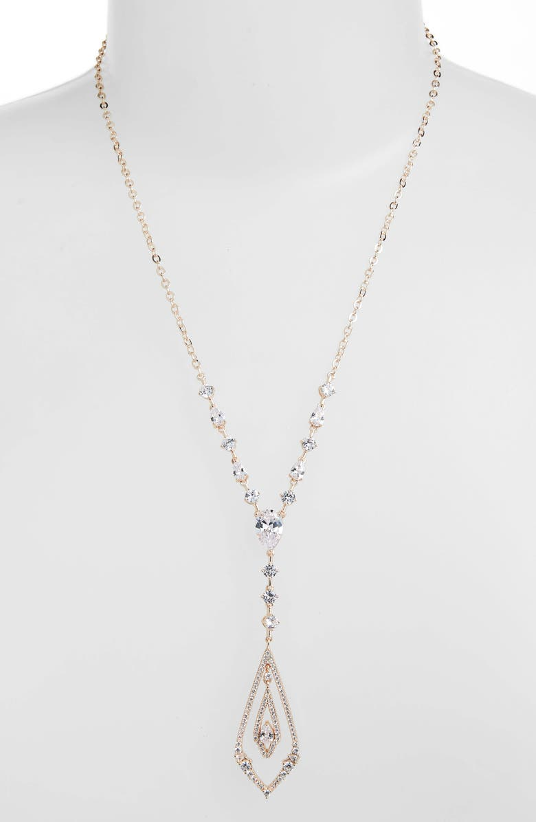 Jenny Packham CRYSTAL PENDANT Y-NECKLACE