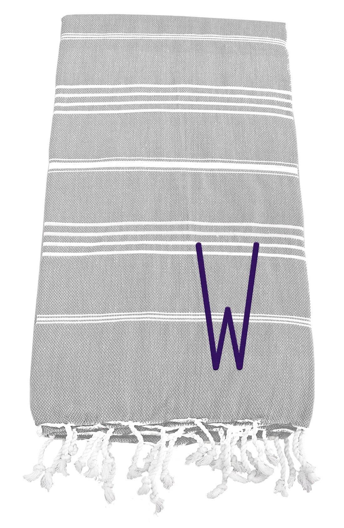 Monogram Turkish Cotton Towel,                             Main thumbnail 25, color,