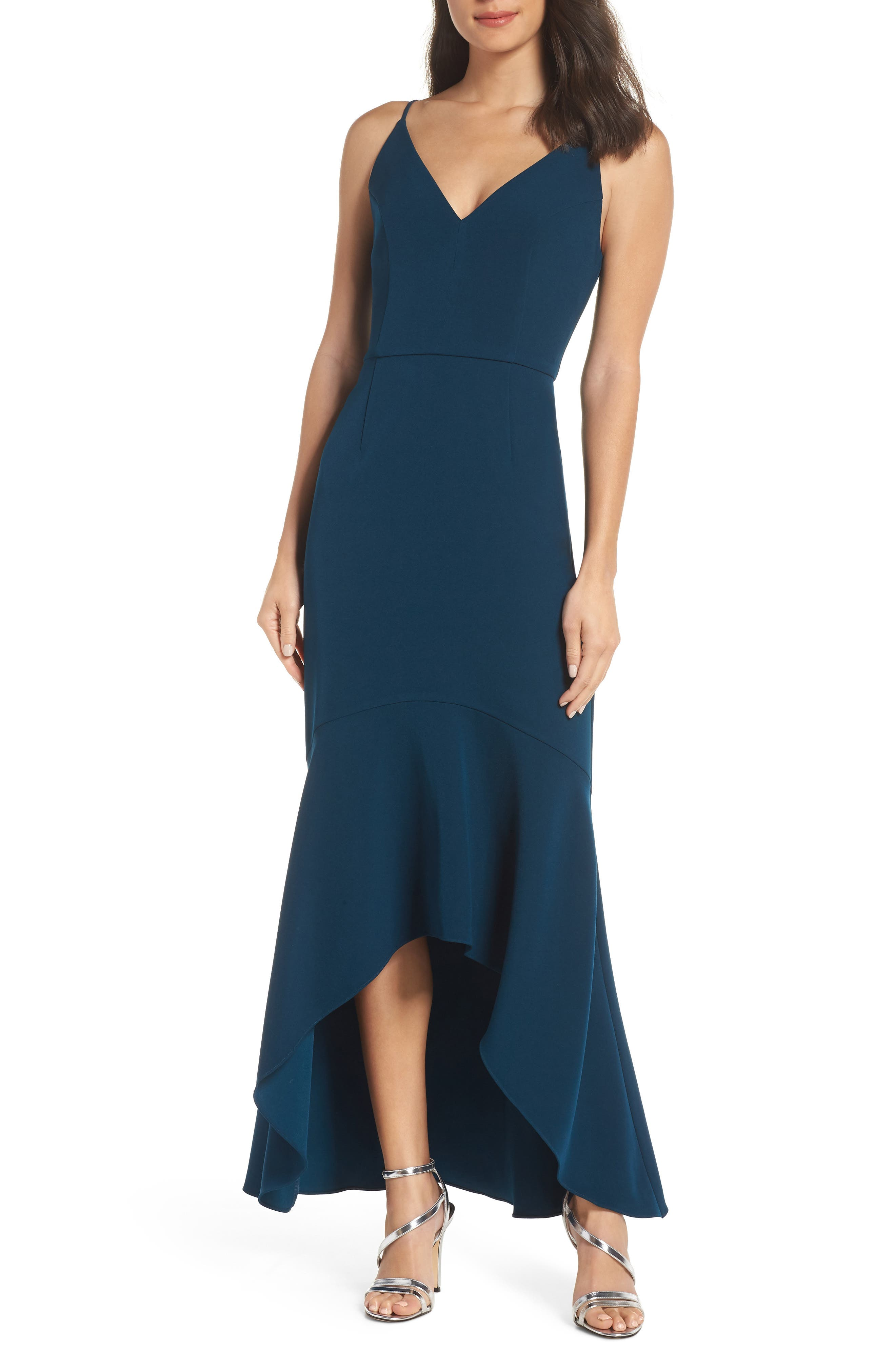 HARLYN High/Low Gown in Teal