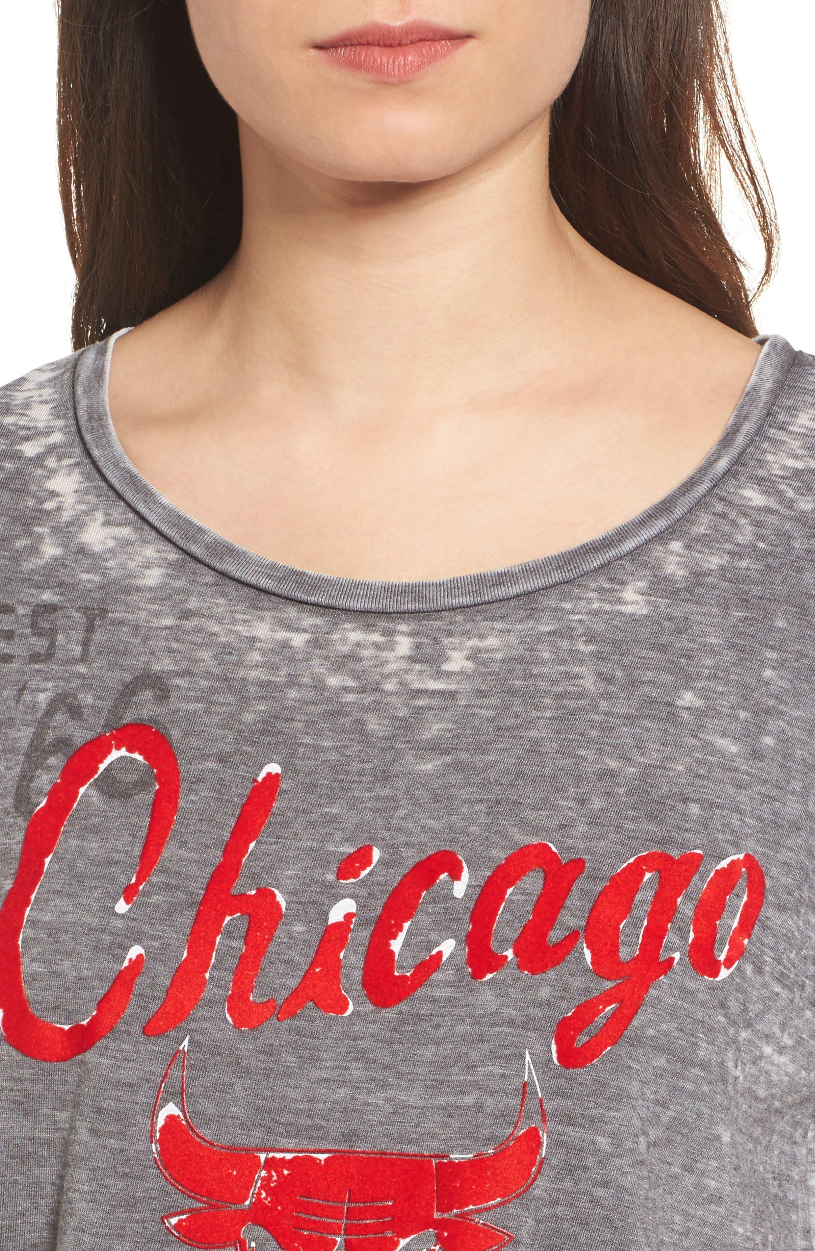 NBA Chicago Bulls Tee,                             Alternate thumbnail 4, color,                             004