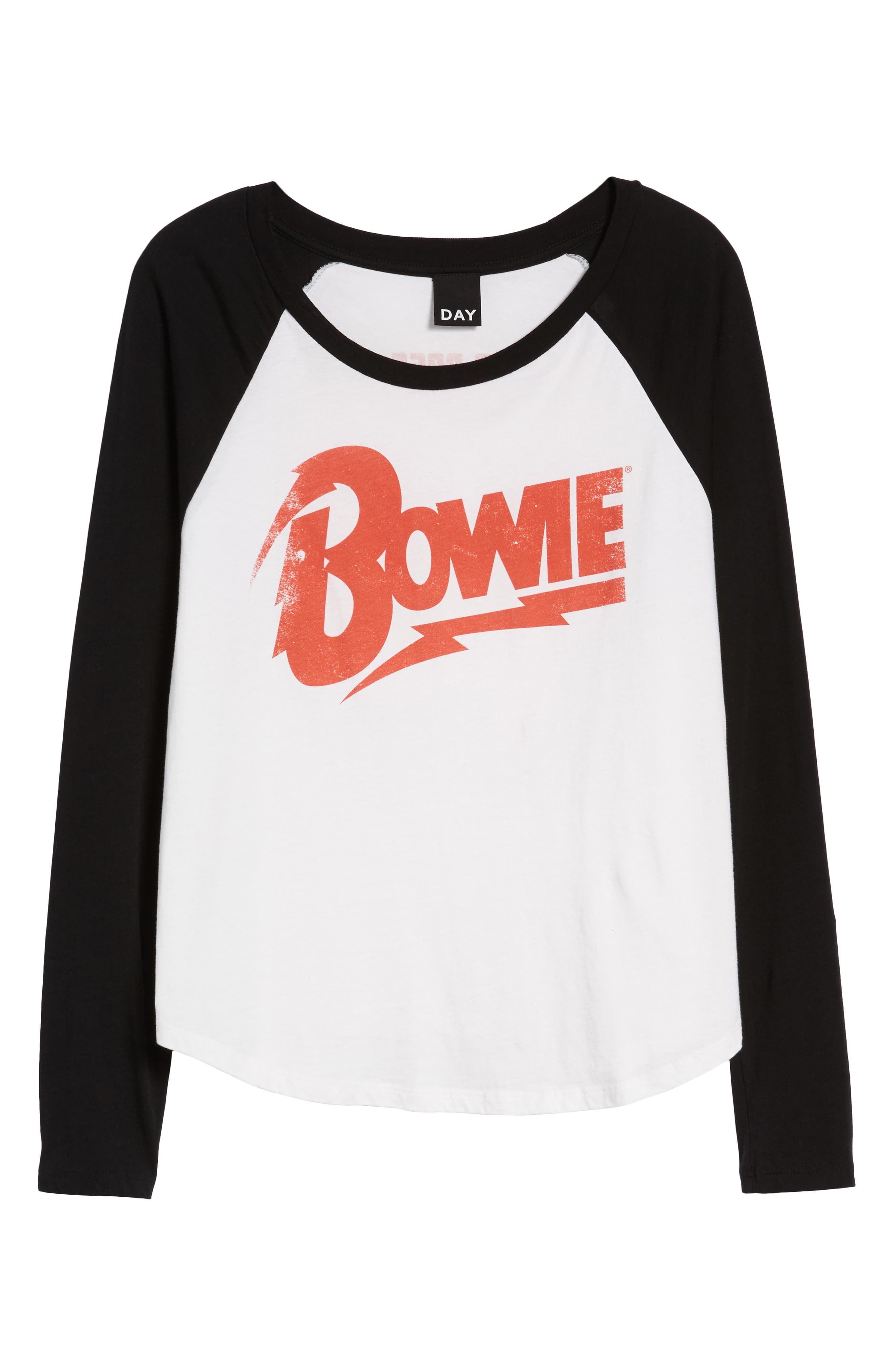 David Bowie Raglan Tee,                             Alternate thumbnail 7, color,