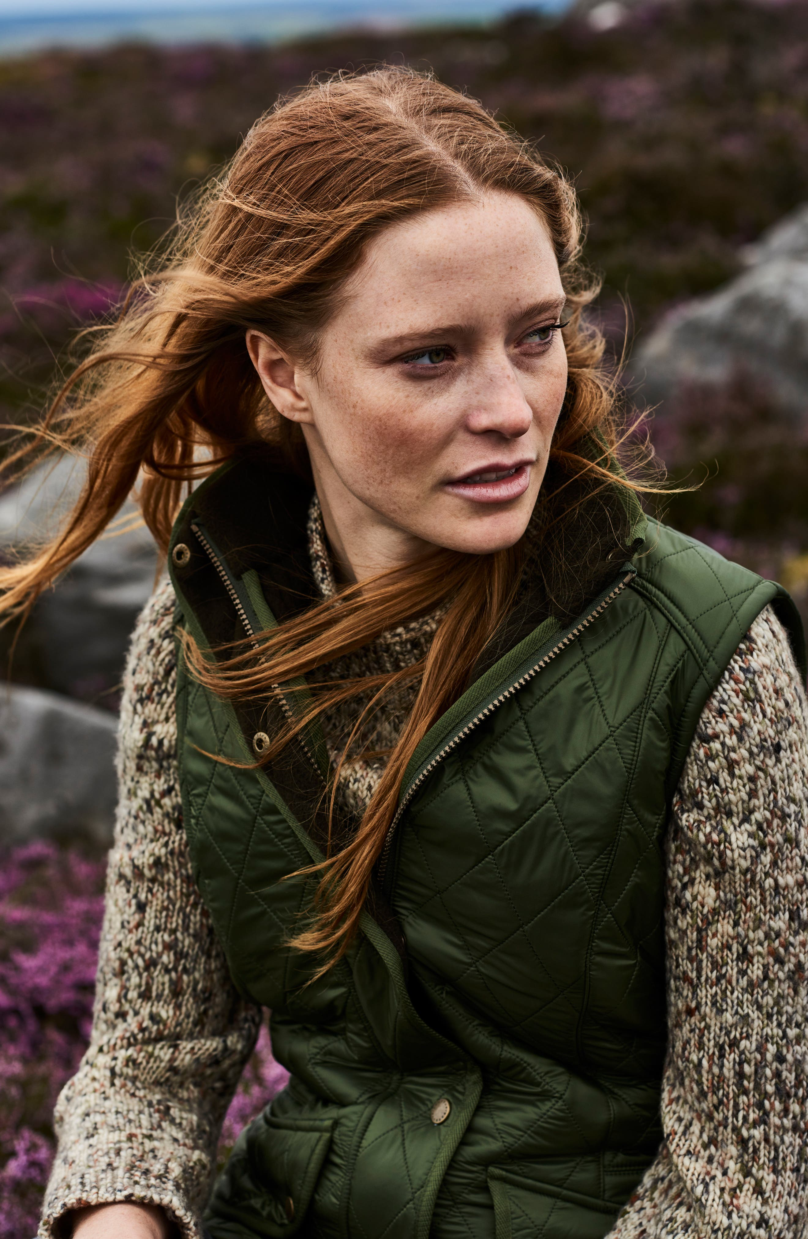 'Cavalry' Quilted Vest,                             Alternate thumbnail 10, color,                             OLIVE/ OLIVE