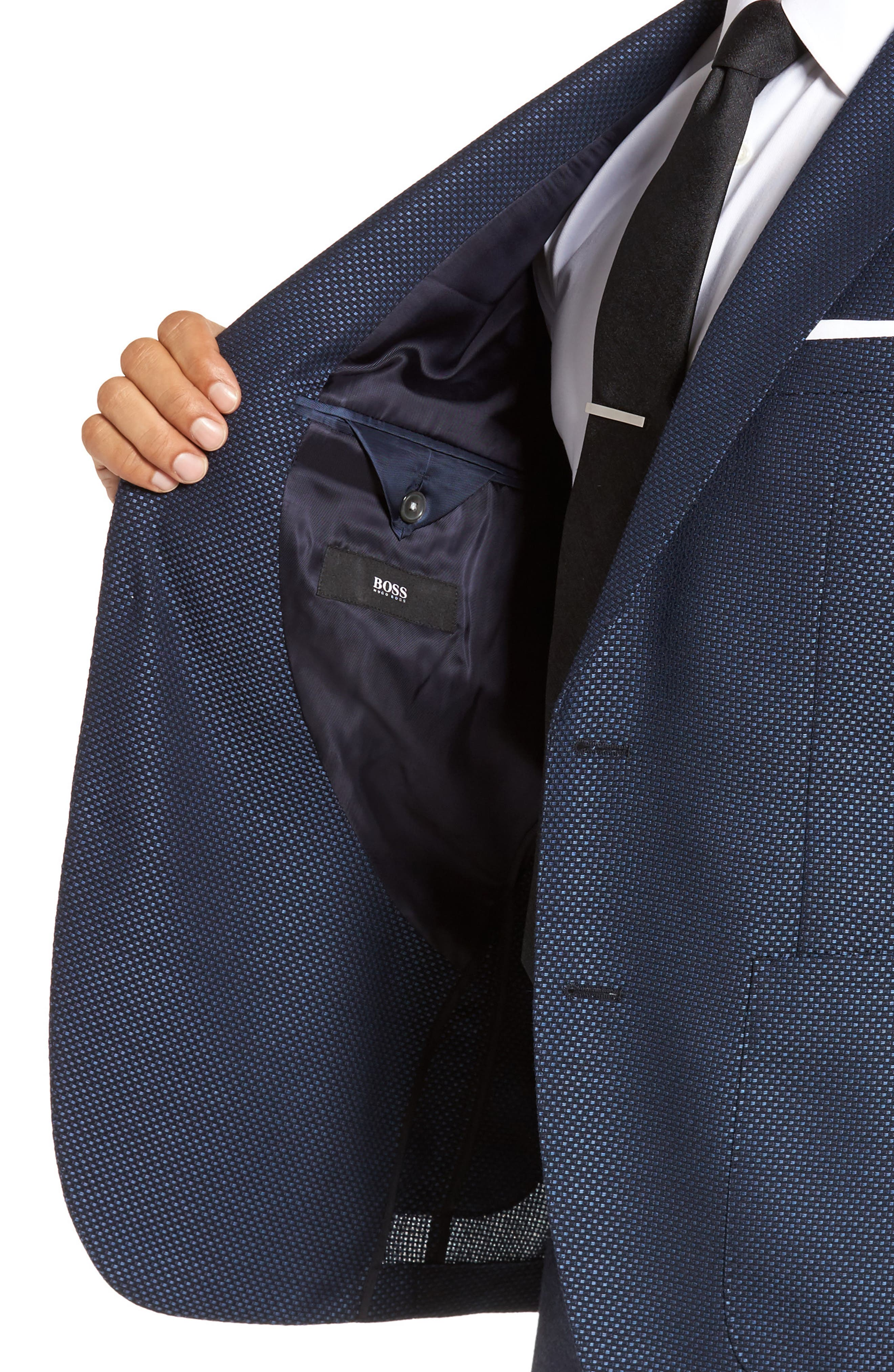 Janson Classic Fit Wool Blazer,                             Alternate thumbnail 4, color,