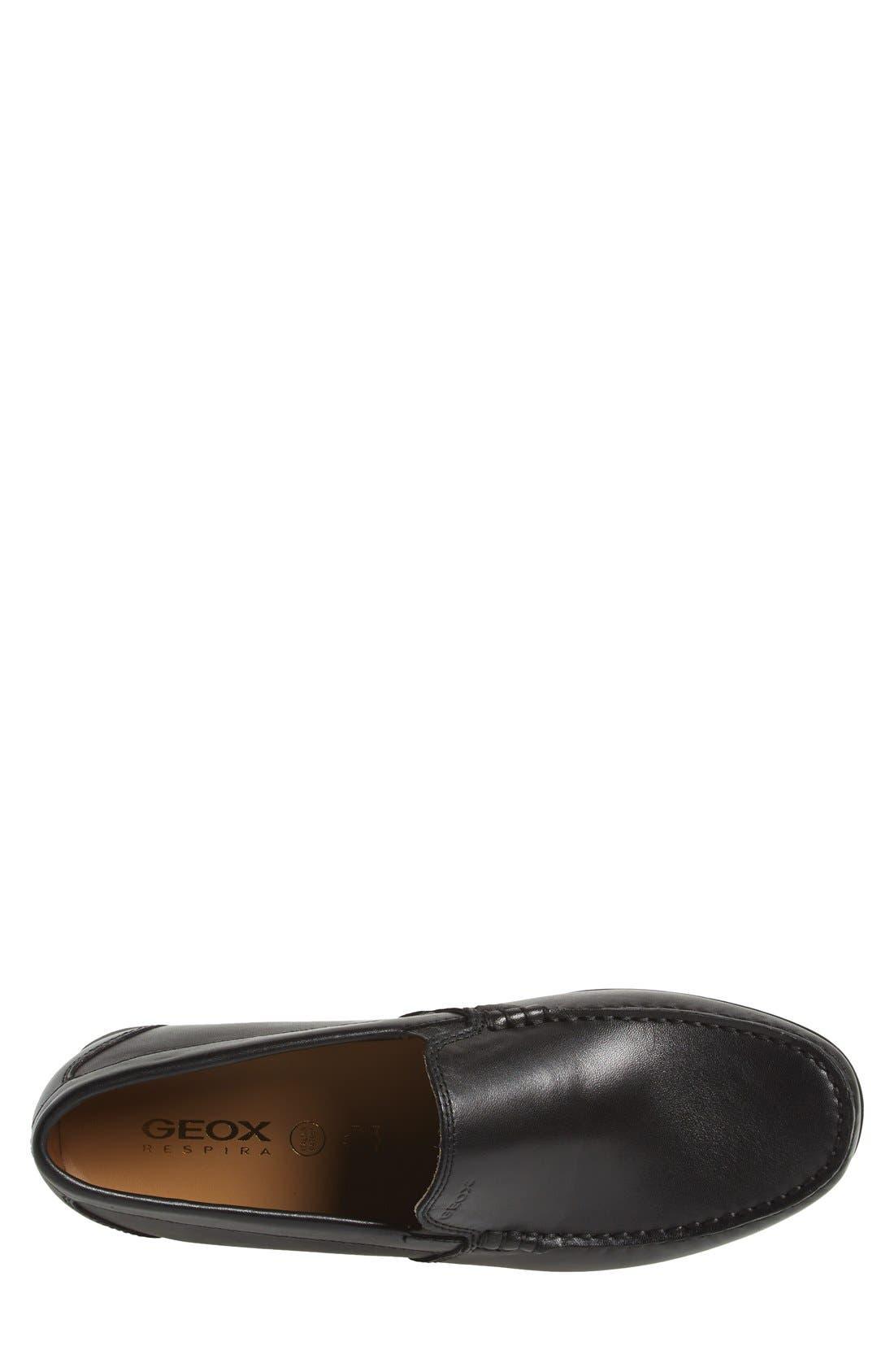 'Simon W2' Venetian Loafer,                             Alternate thumbnail 3, color,                             BLACK