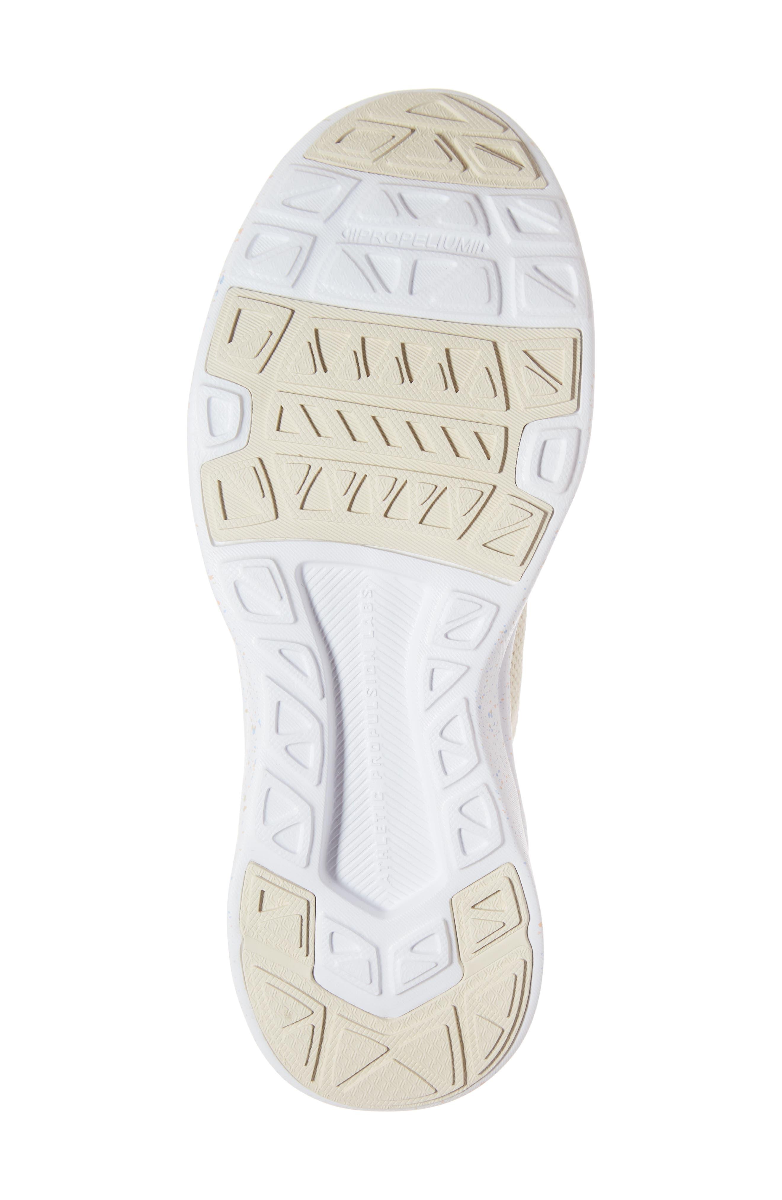 APL,                             TechLoom Breeze Knit Running Shoe,                             Alternate thumbnail 6, color,                             PARCHMENT/ BLUSH/ SKY