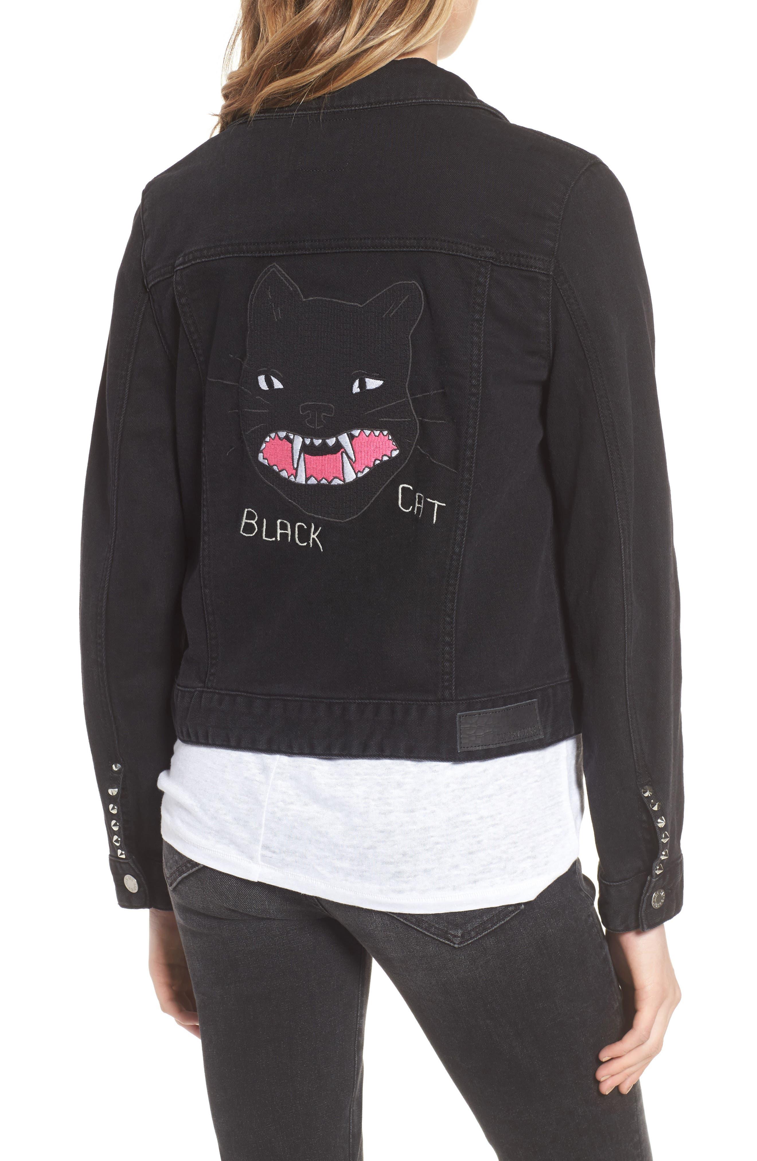 Kioko Cat Jacket,                             Alternate thumbnail 2, color,                             001