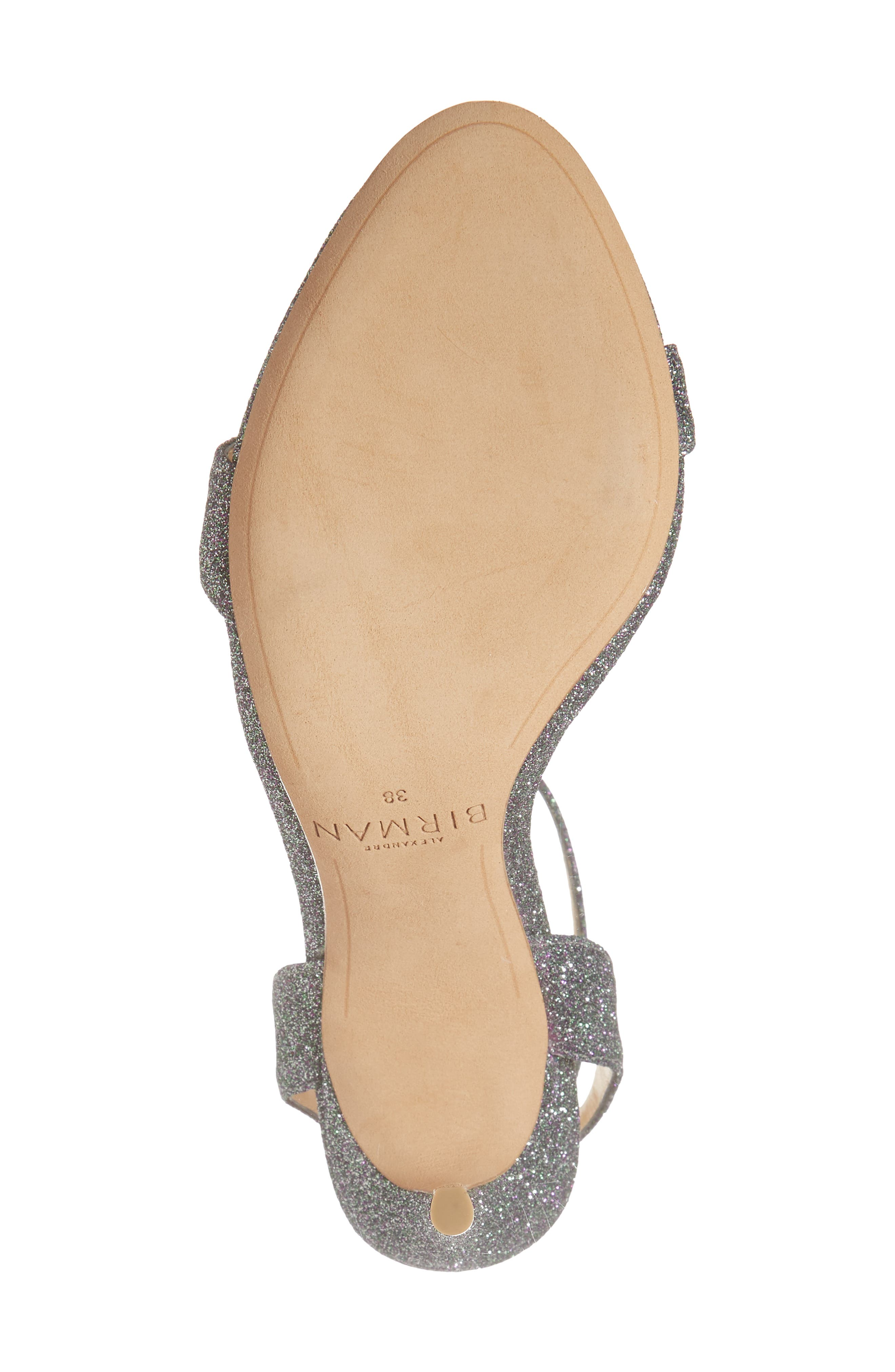 Santine Ankle Strap Sandal,                             Alternate thumbnail 6, color,                             SILVER