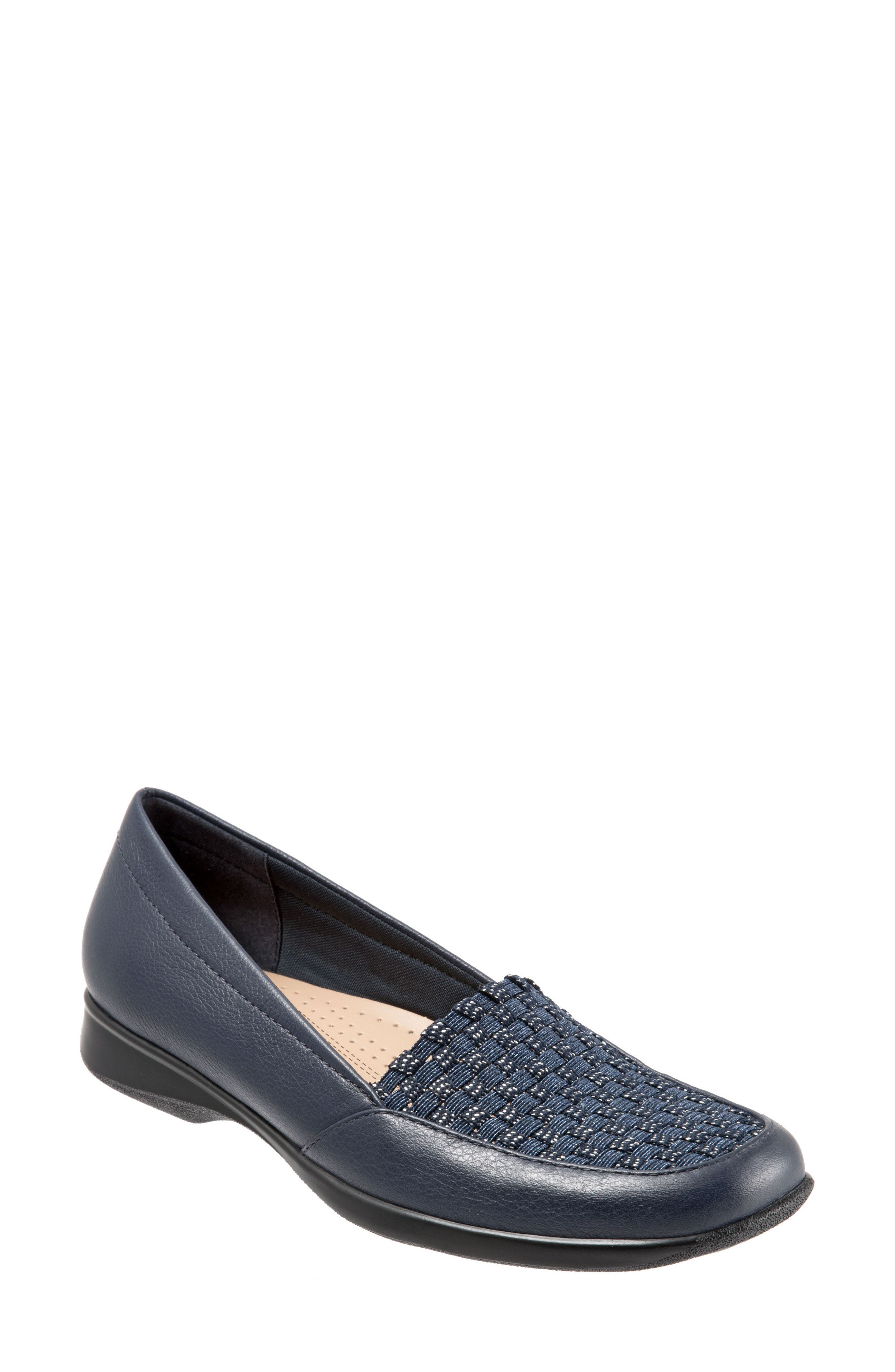 Jenkins Loafer Flat,                         Main,                         color, NAVY LEATHER