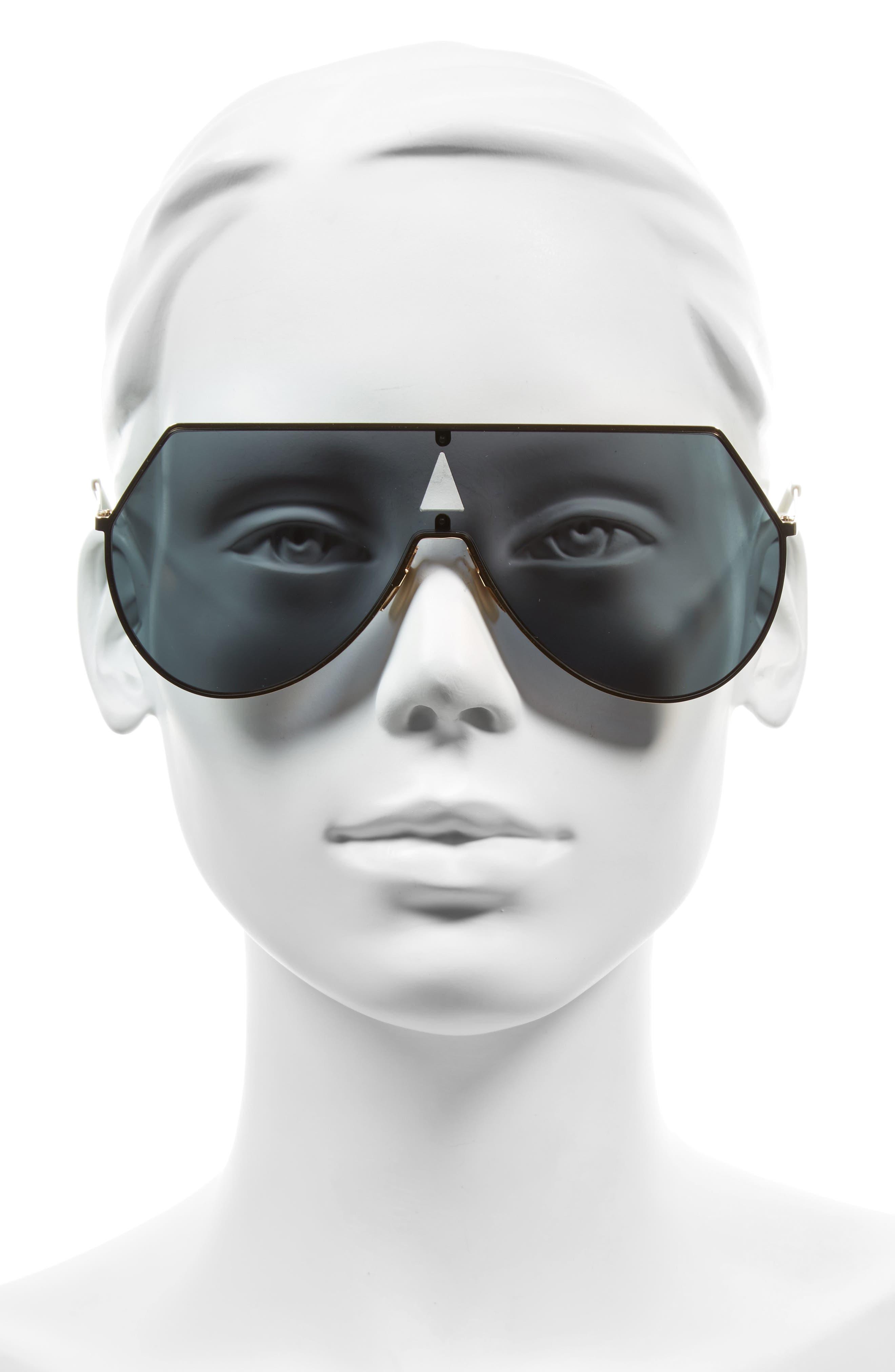 99mm Eyeline Aviator Sunglasses,                             Alternate thumbnail 2, color,                             ROSE GOLD