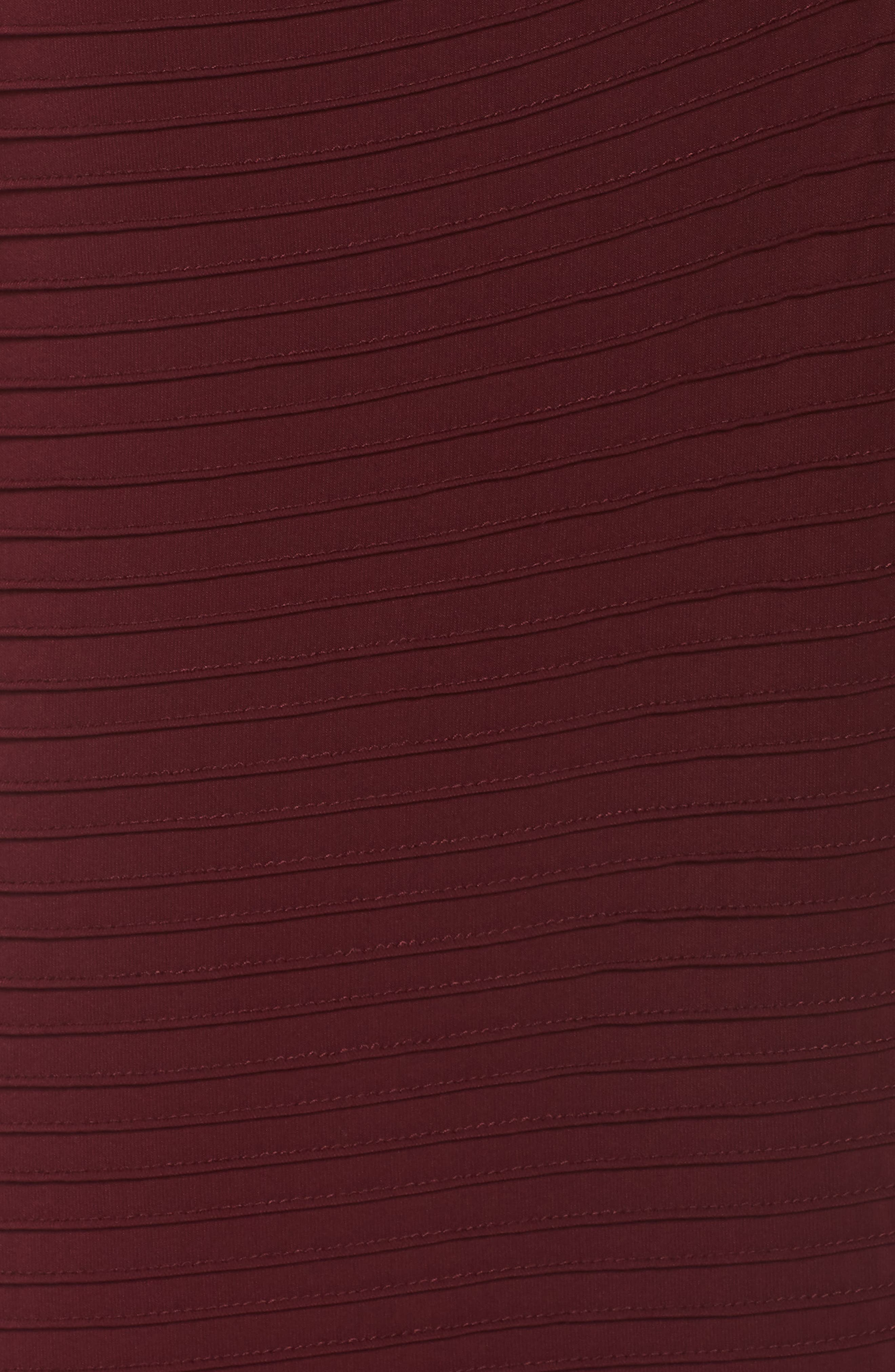 Pintuck Pleat Jersey Gown,                             Alternate thumbnail 6, color,                             WINE
