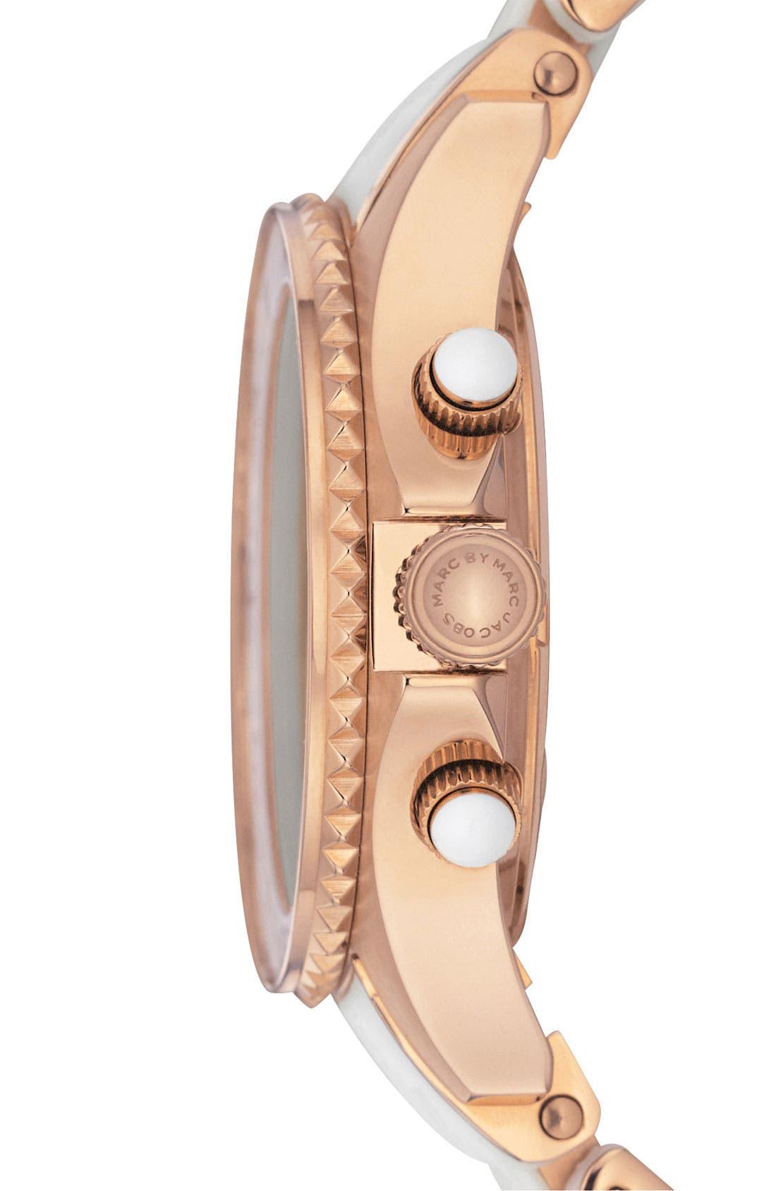 'Rock' Chronograph Silicone Bracelet Watch, 40mm,                             Alternate thumbnail 18, color,