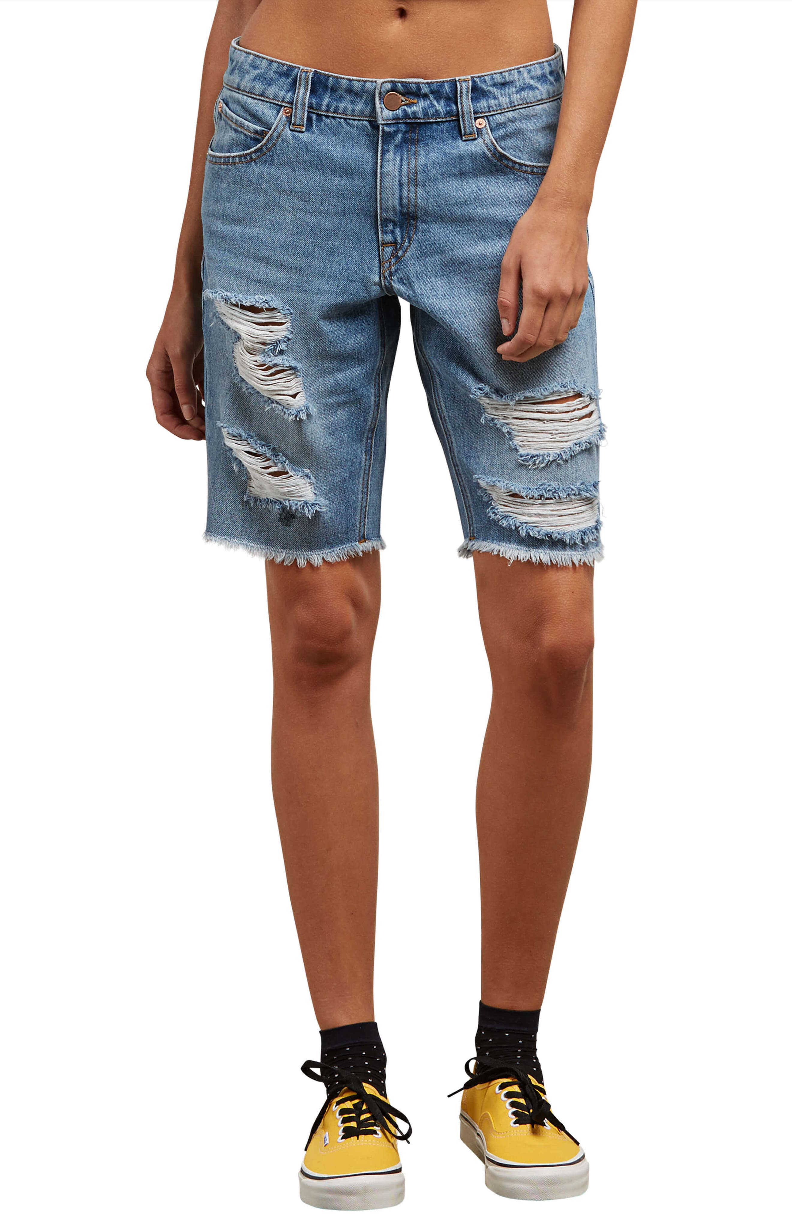Super Stoned Denim Bermuda Shorts,                         Main,                         color, 478