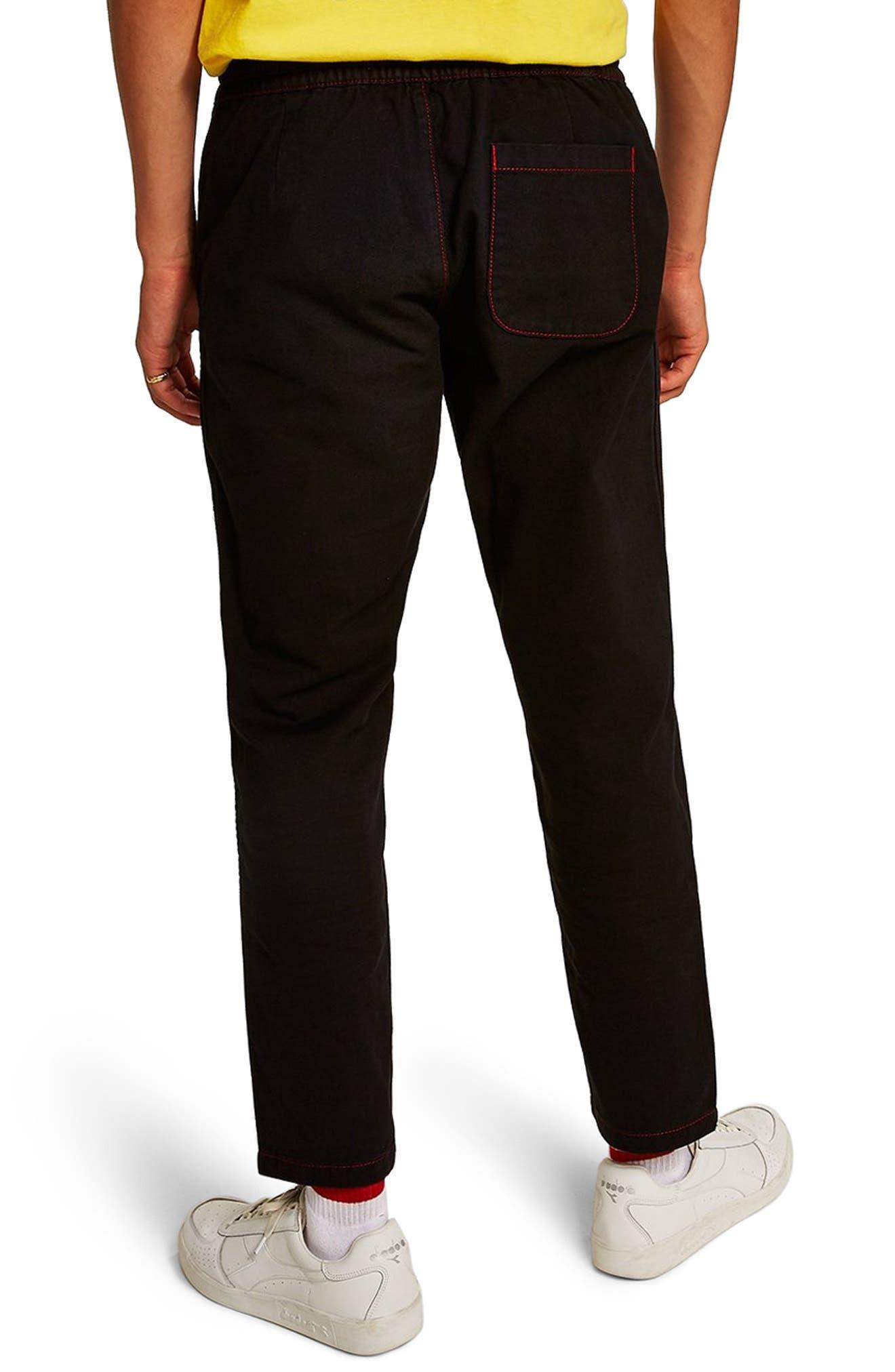 Tapered Fit Jogger Pants,                             Alternate thumbnail 2, color,                             BLACK