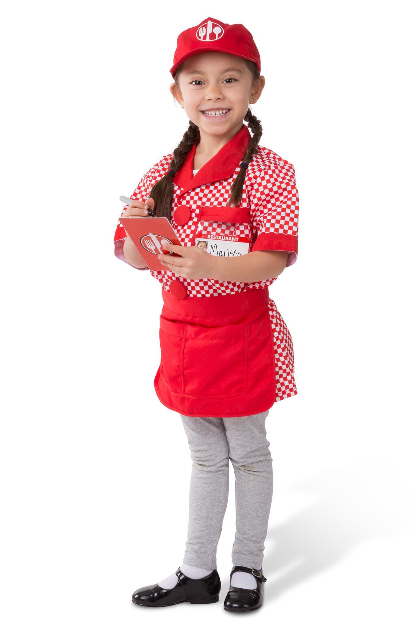 Server Role Play Costume Set,                             Alternate thumbnail 3, color,                             MULTI