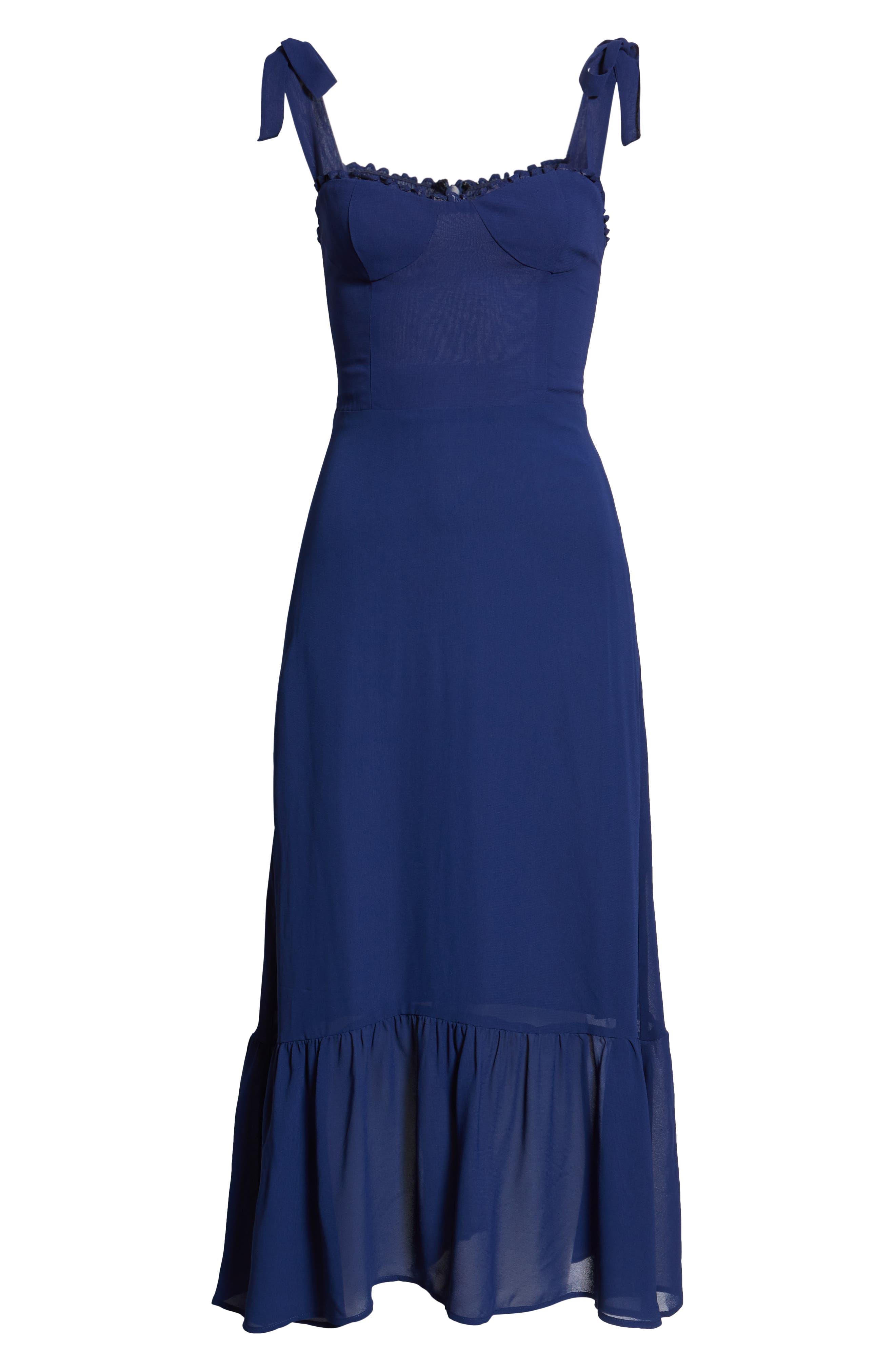 Nikita Floral Midi Dress,                             Alternate thumbnail 6, color,                             400
