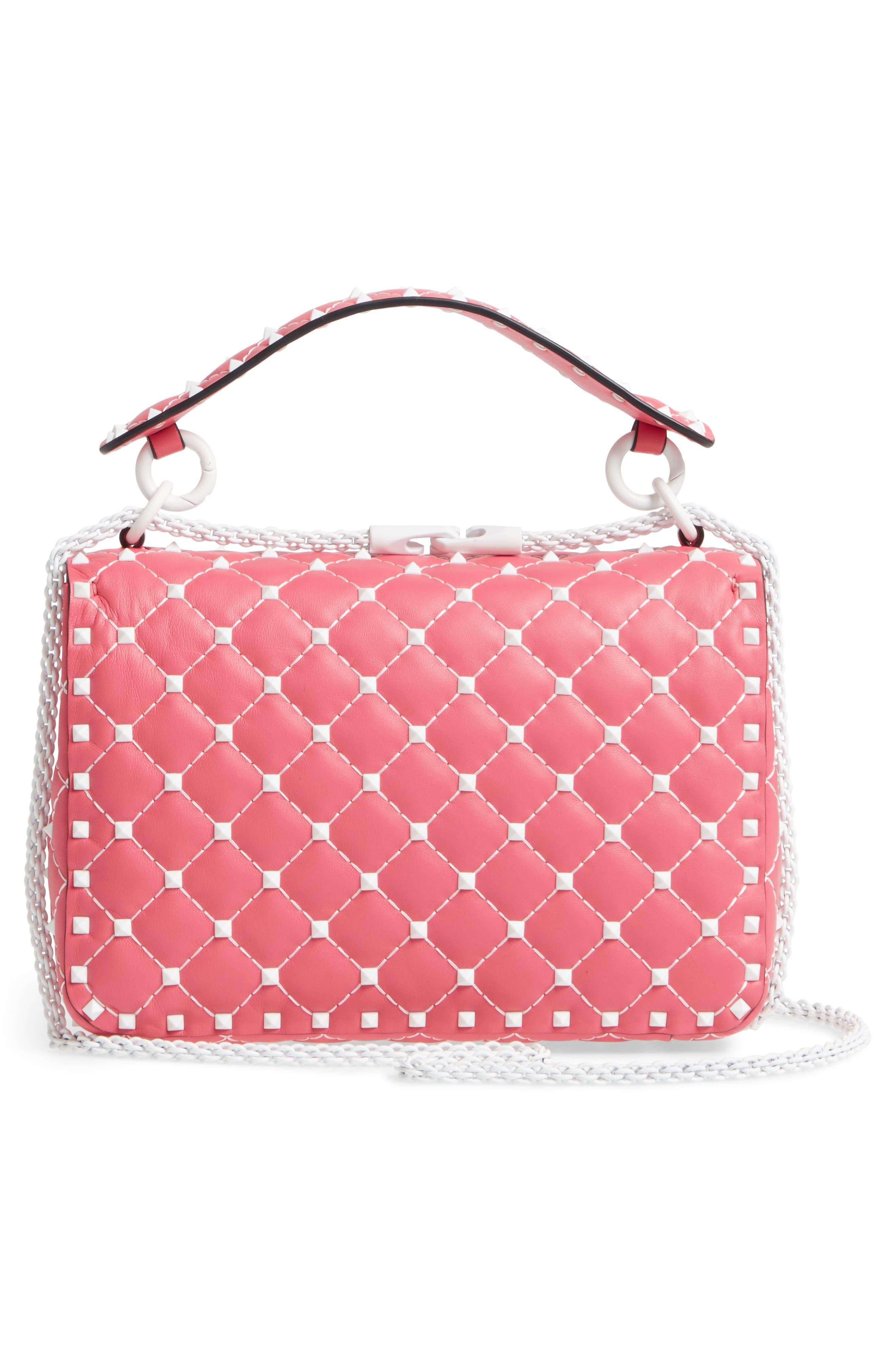 Medium Rockstud Matelassé Leather Shoulder Bag,                             Alternate thumbnail 9, color,