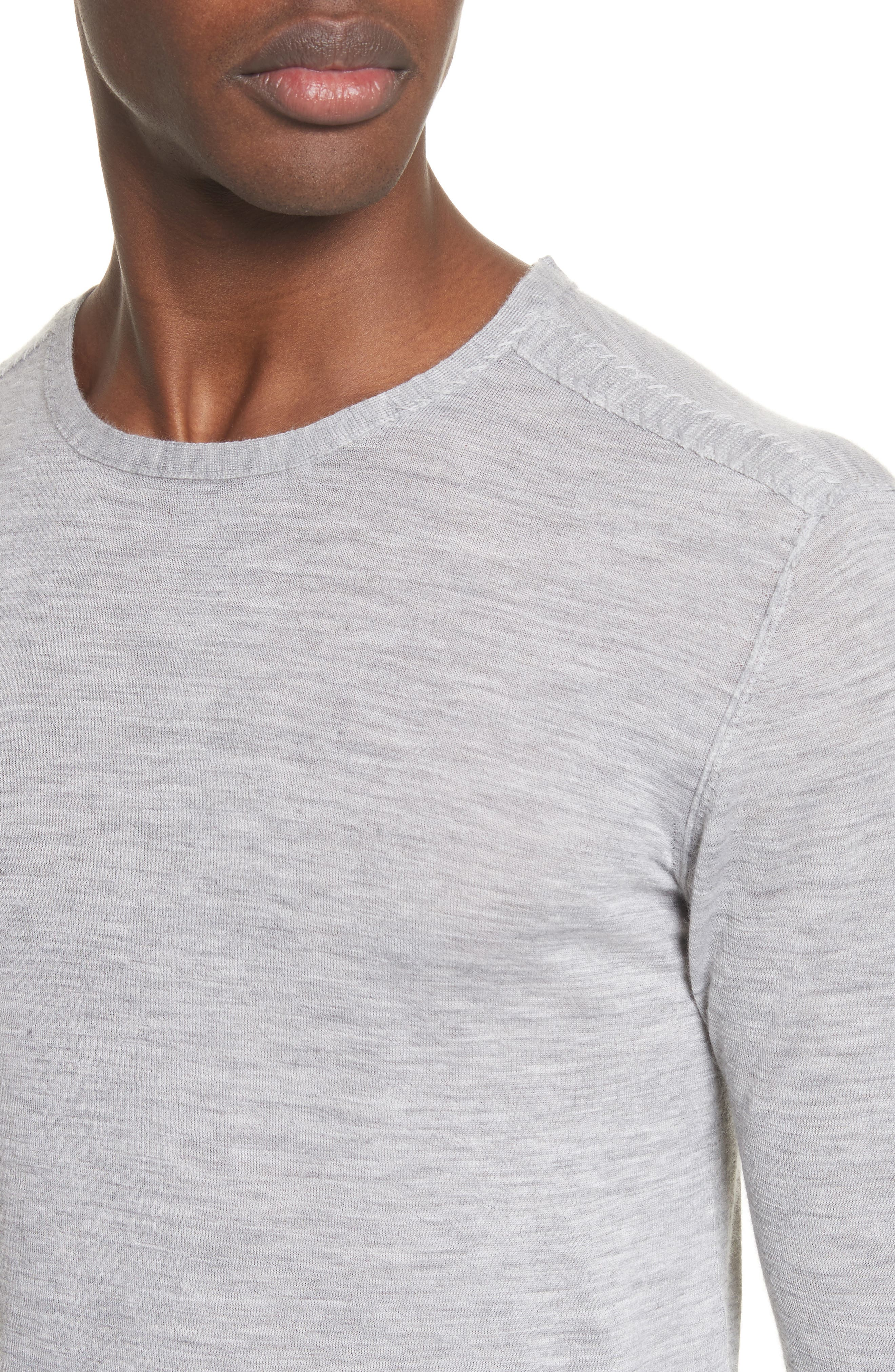 Cashmere Crewneck Sweater,                             Alternate thumbnail 4, color,                             055